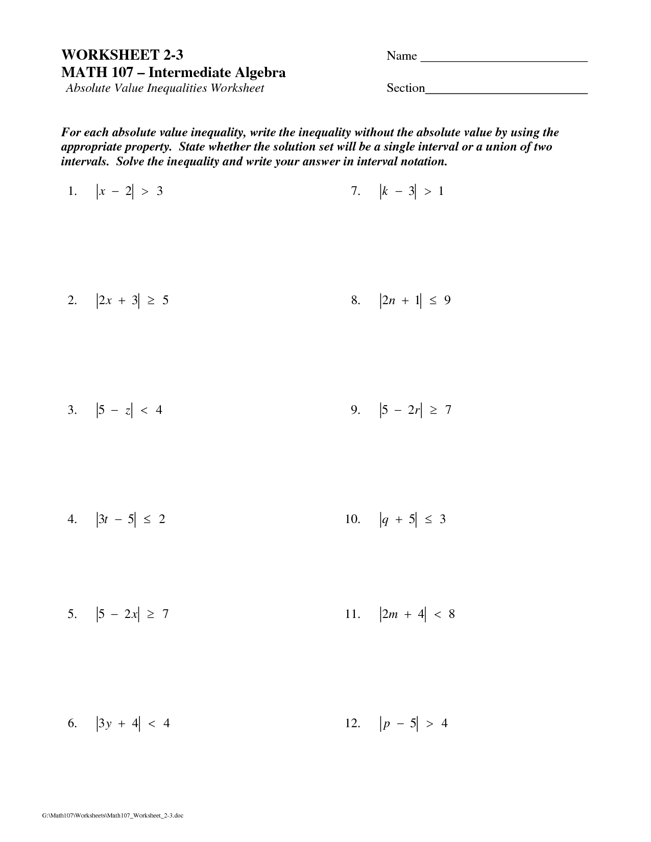 Free Printable Ged Math Worksheet