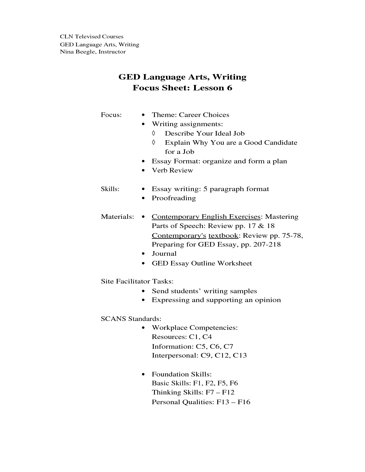 13 Best Images Of Ged Reading Worksheets