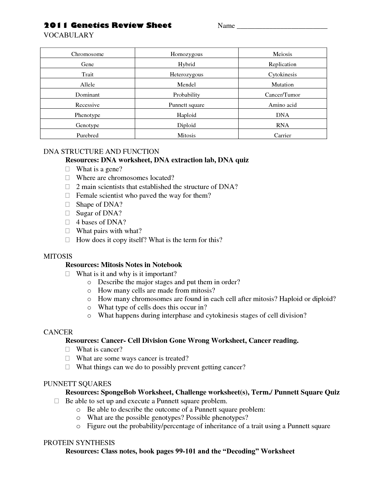 11 4 Meiosis Worksheet Answer Key