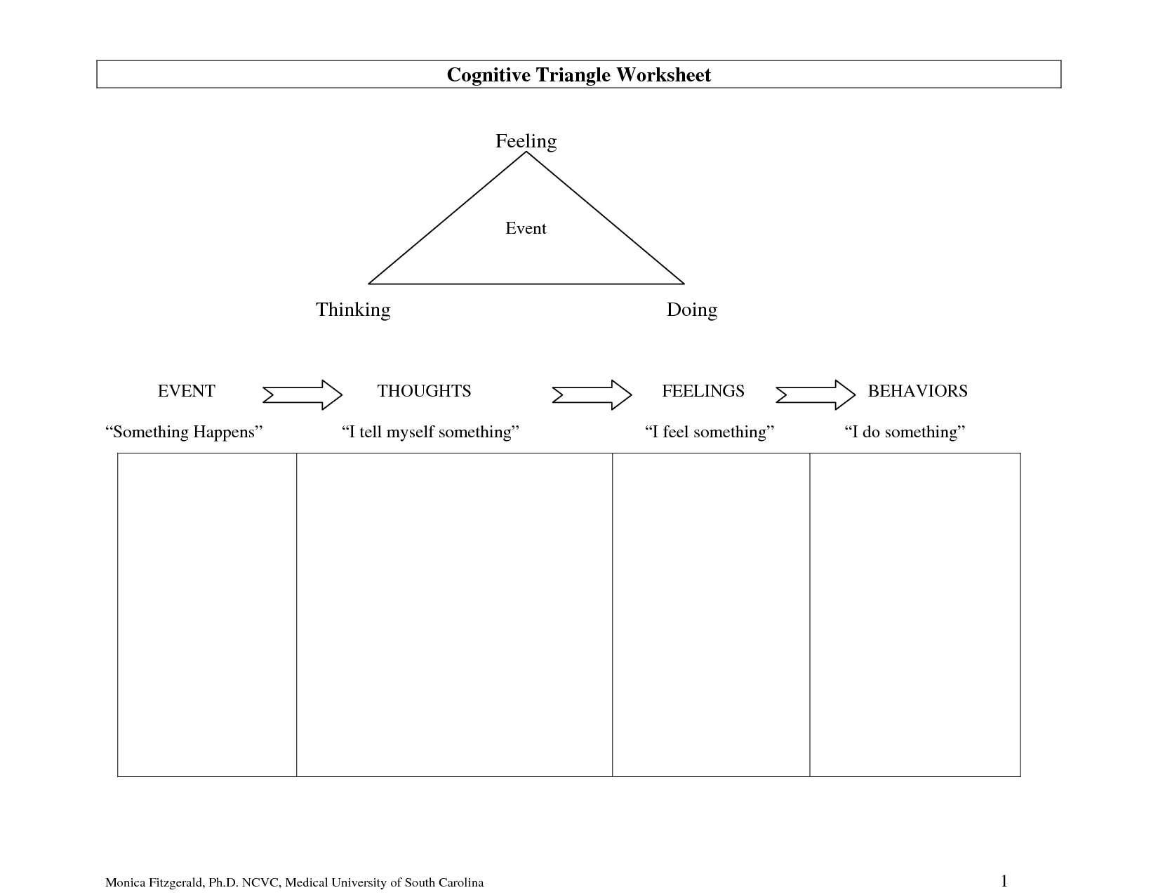 18 Best Images Of Anxiety Cbt Worksheets