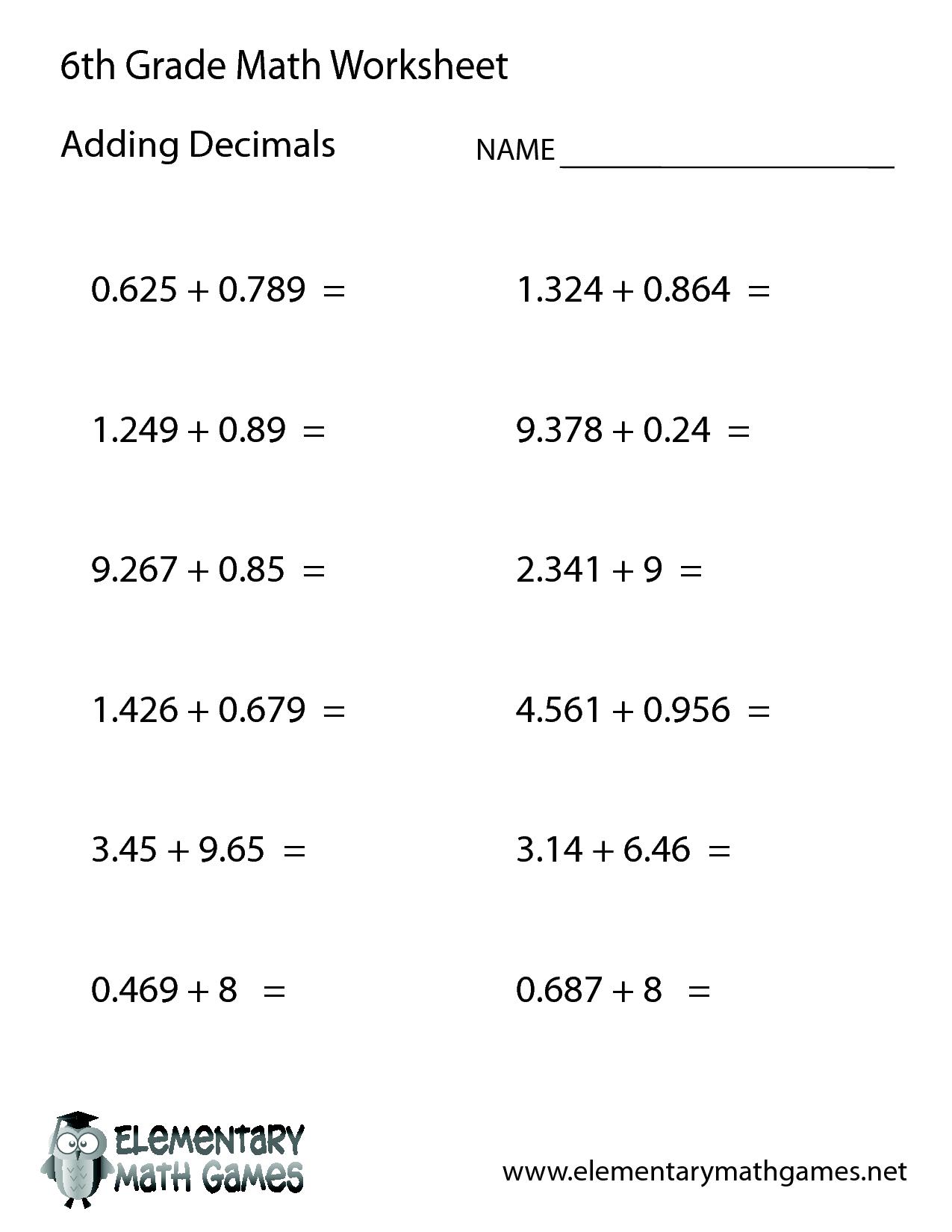 14 Best Images Of Worksheets Grade Math Algebra 6th