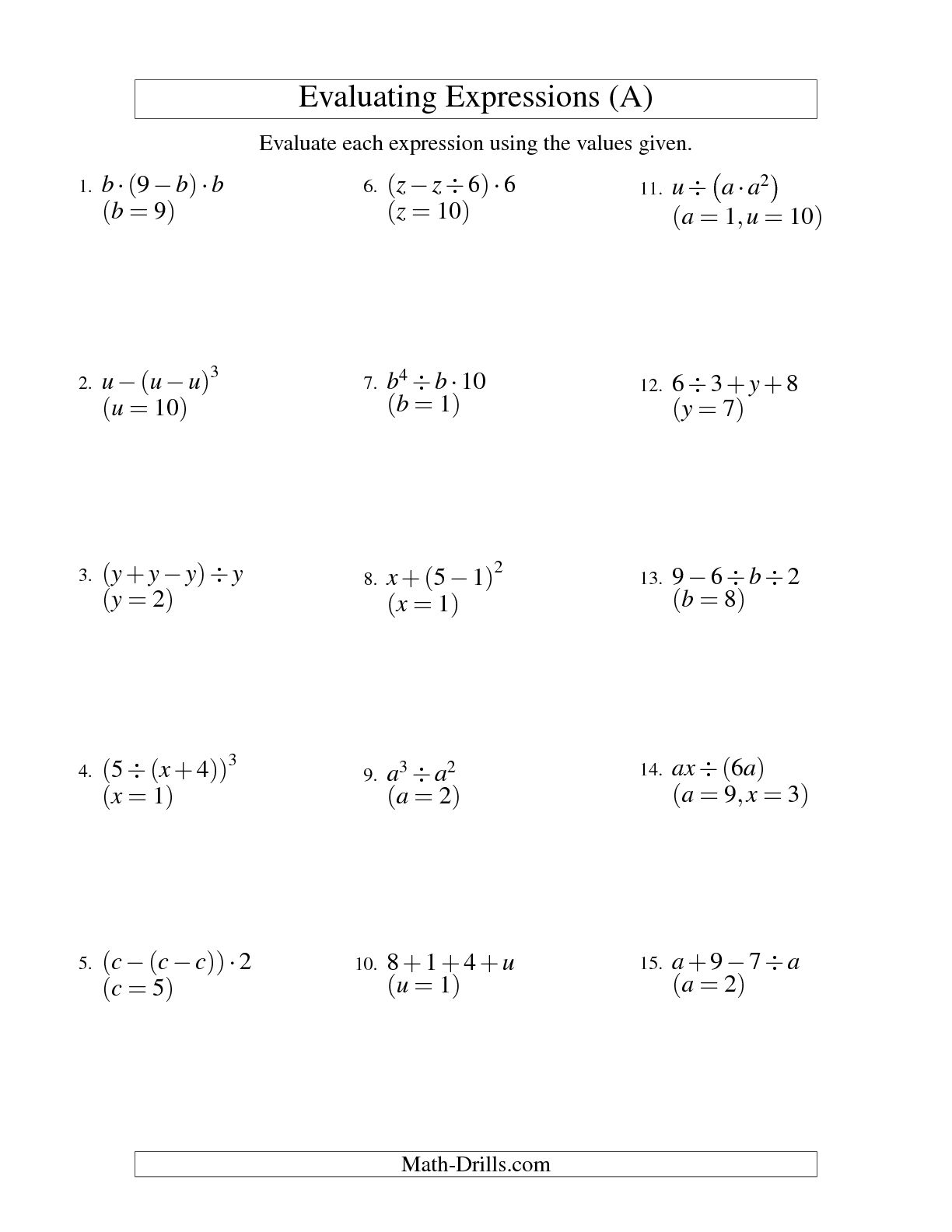 12 Best Images Of Radical Expressions Worksheet