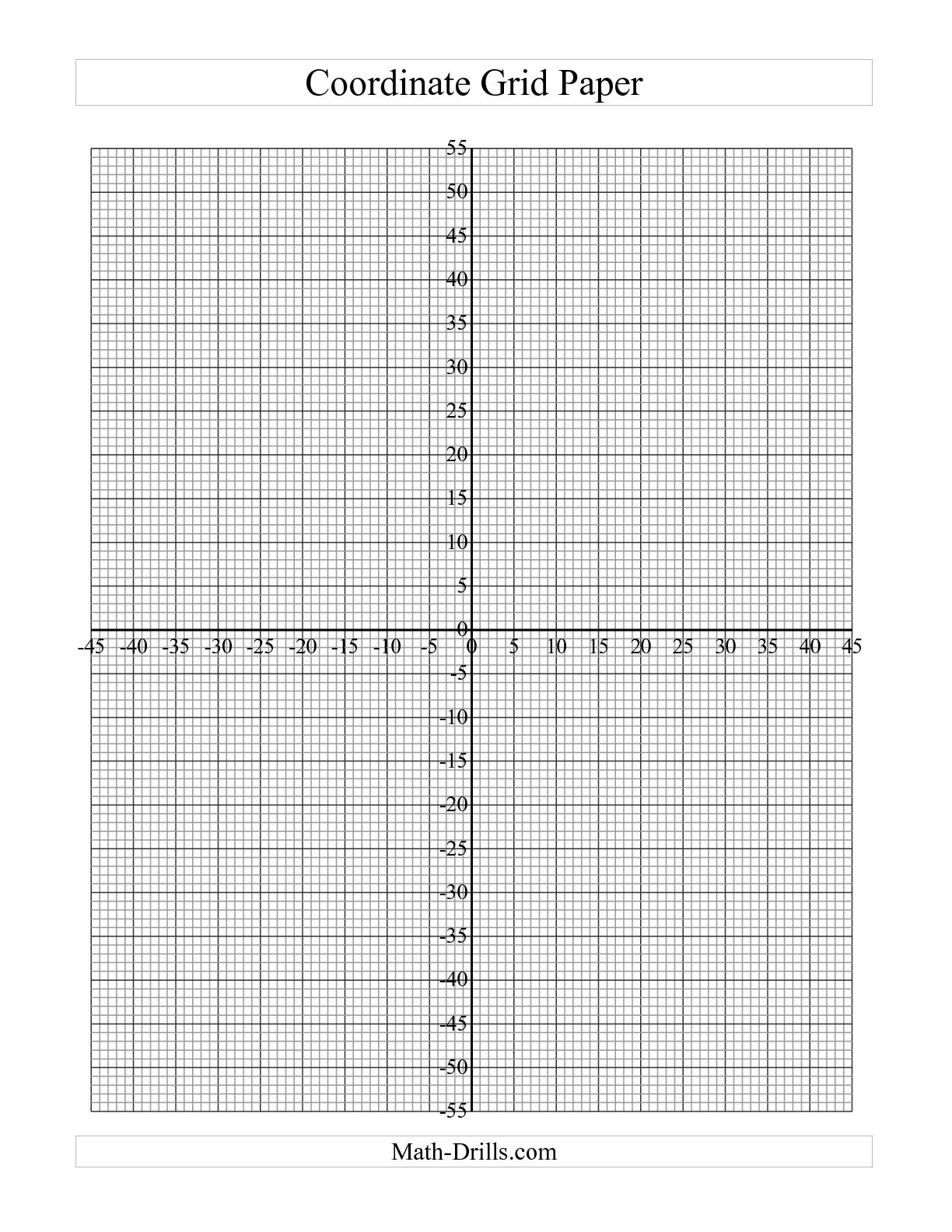 Map Coordinate Plane Worksheet