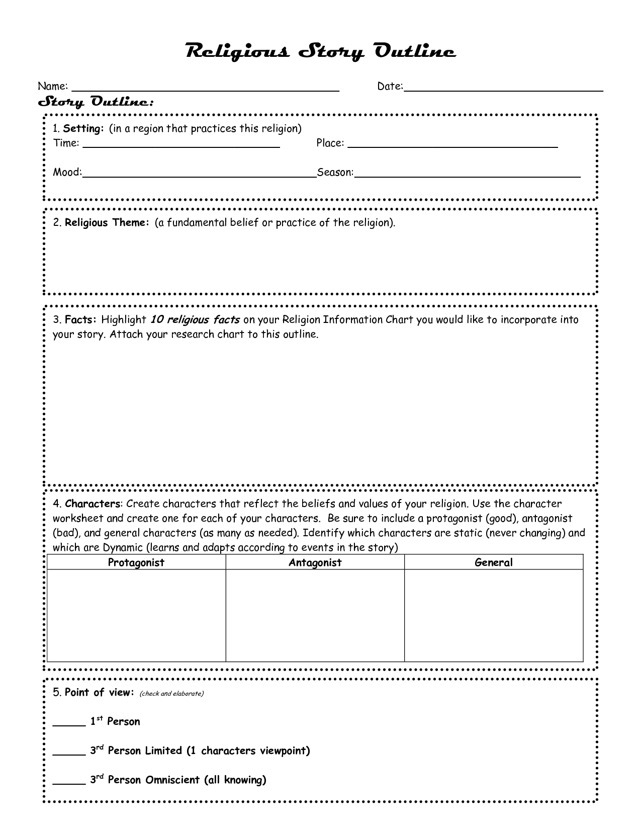16 Best Images Of Novel Outline Worksheet