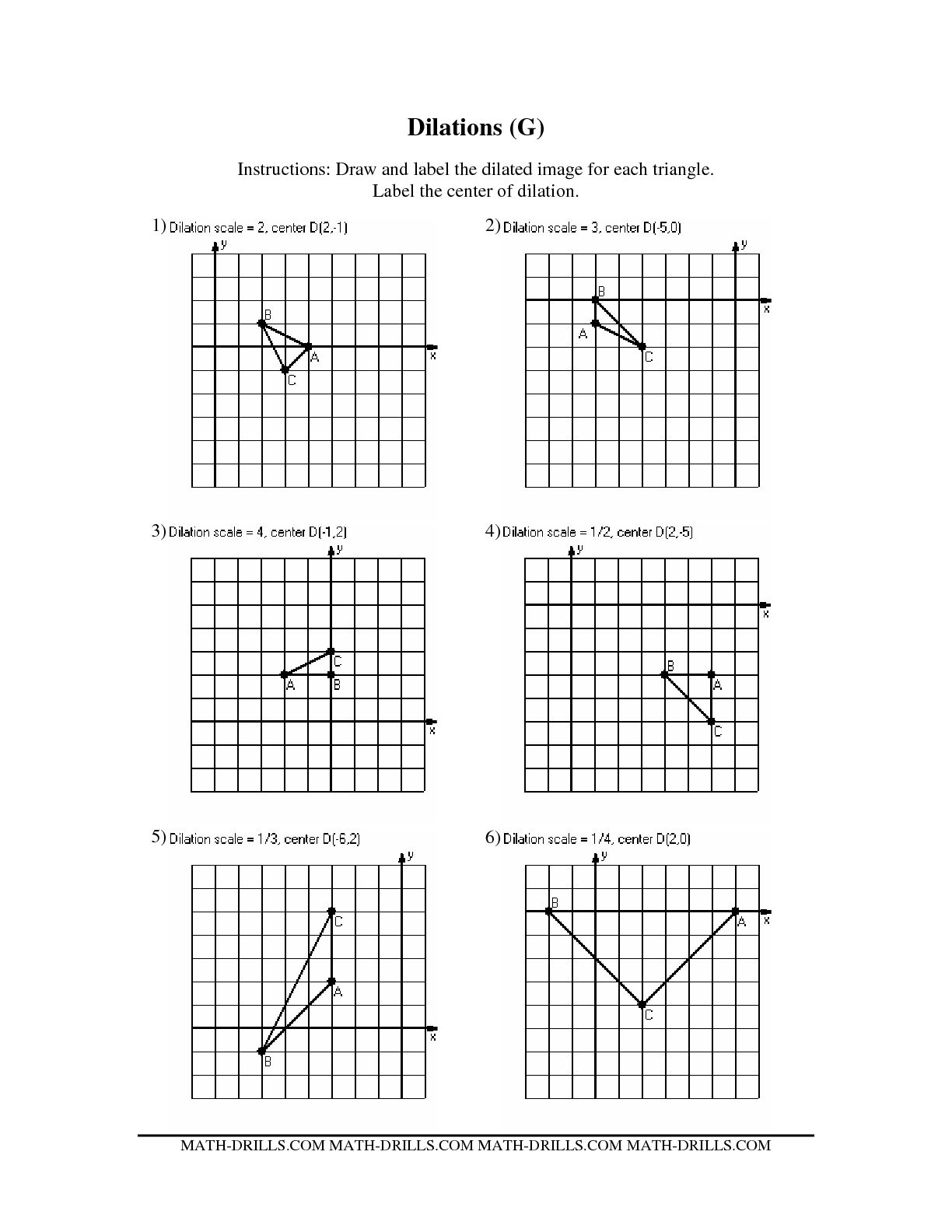 10 Best Images Of Geometric Transformations Worksheets