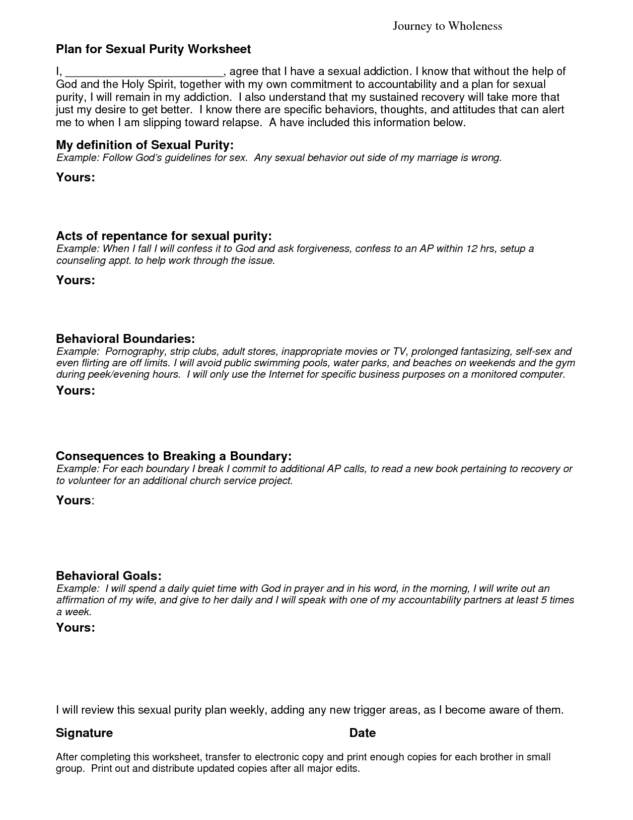 Triggers In Addiction Worksheet