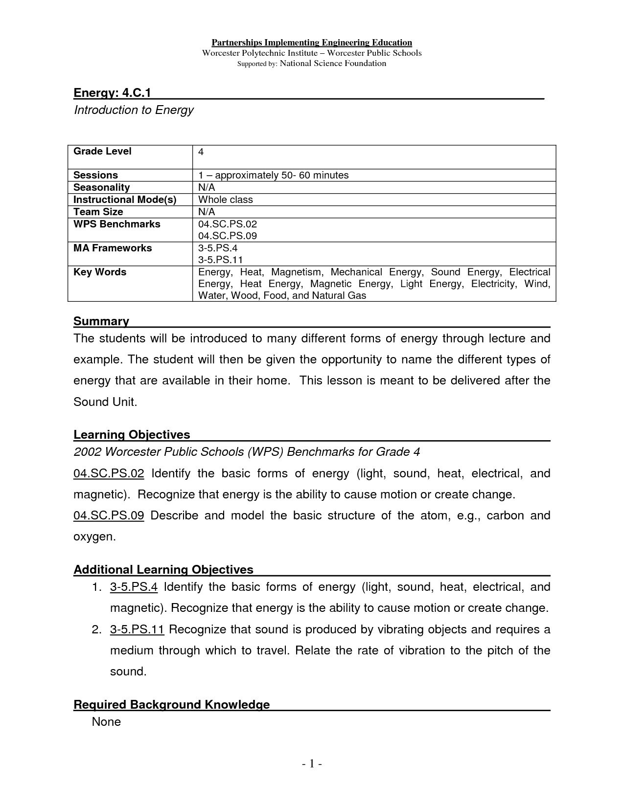 15 Best Images Of Light Sound Heat Energy Worksheets 4th