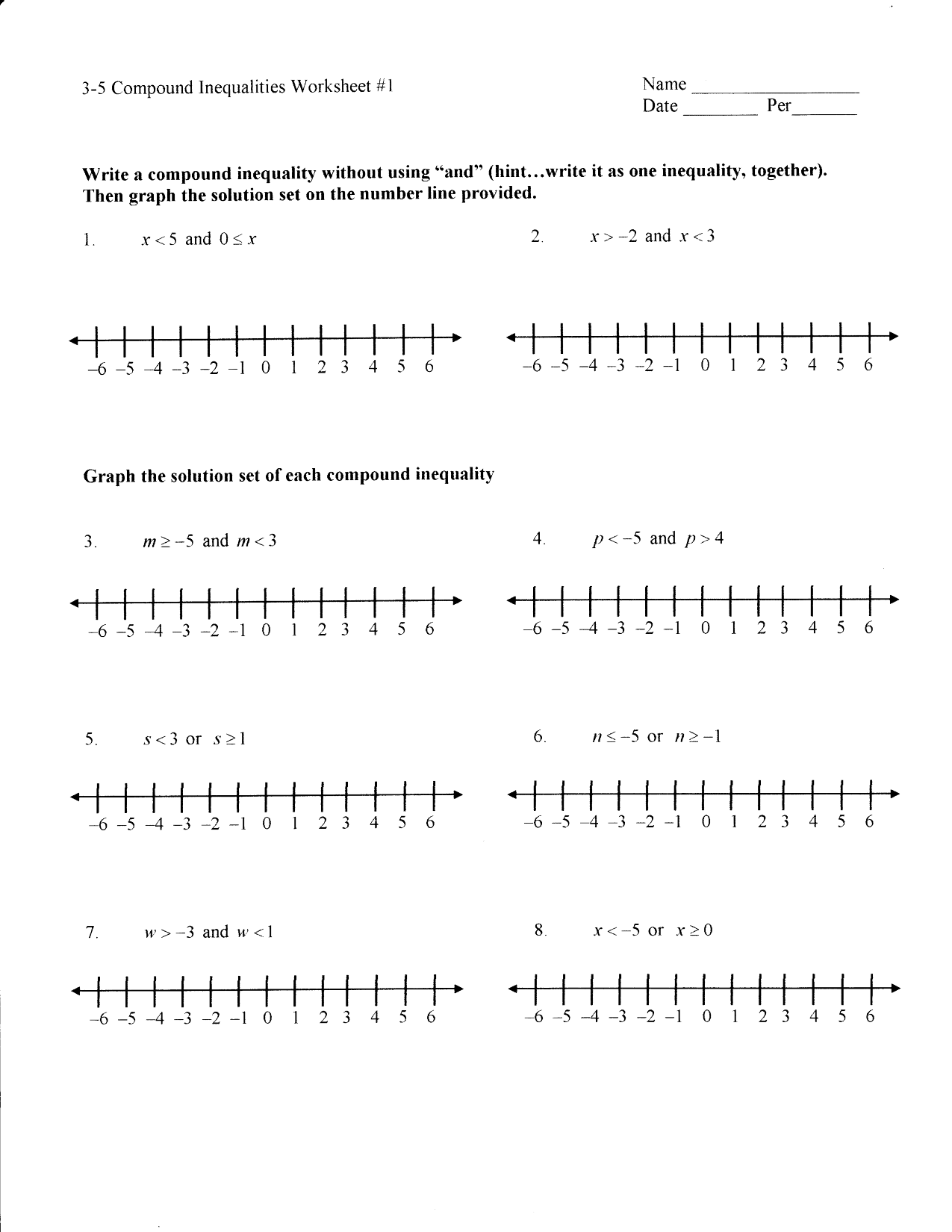 15 Best Images Of Graphing Two Variable Inequalities Worksheet