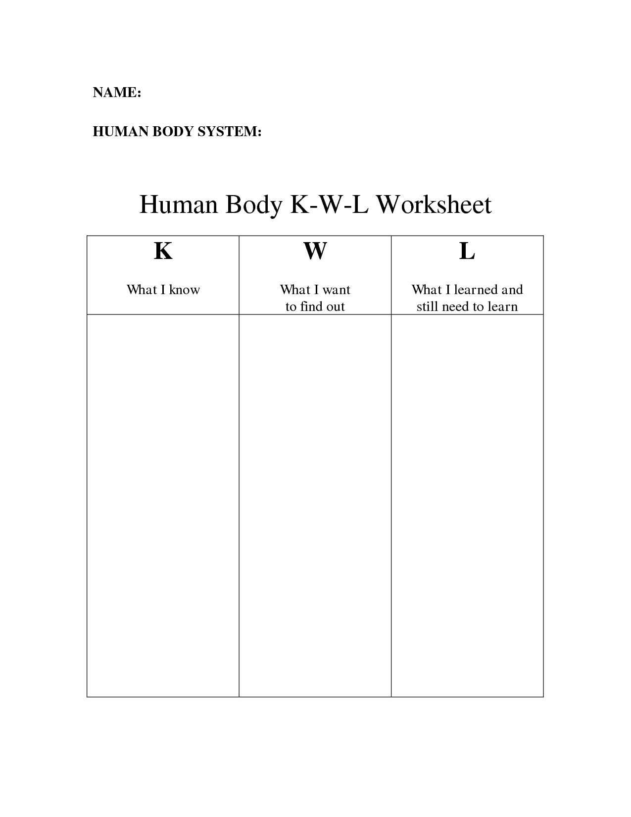 13 Best Images Of Muscular System Worksheets For Middle
