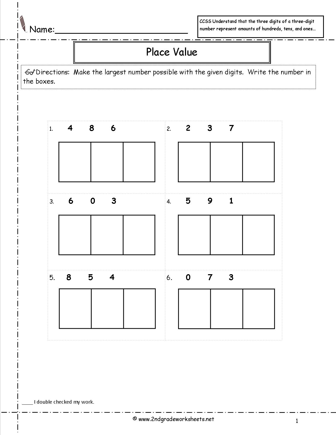 Base Ten Expanded Notation Worksheet