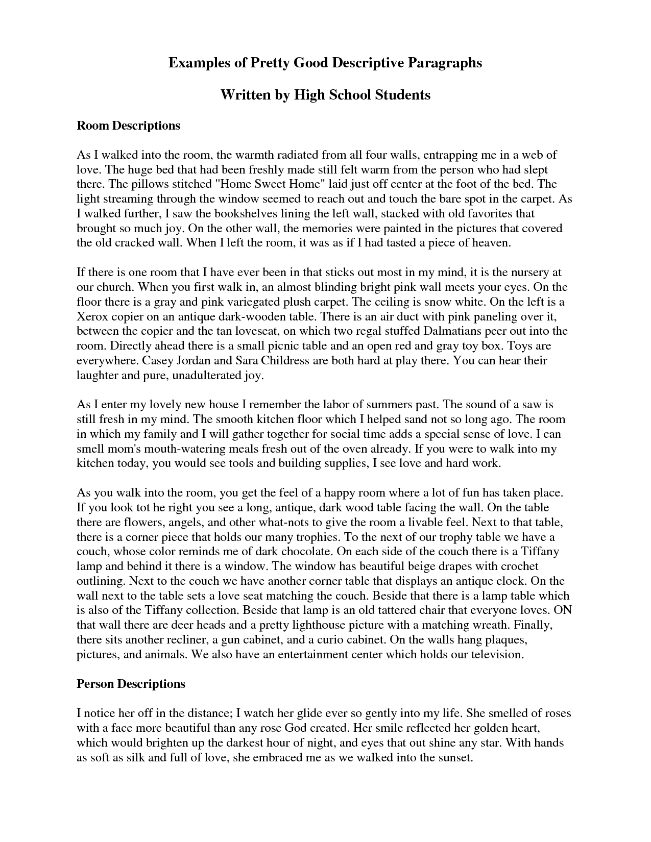 Descriptive Essay Help What Is A Descriptive Essay