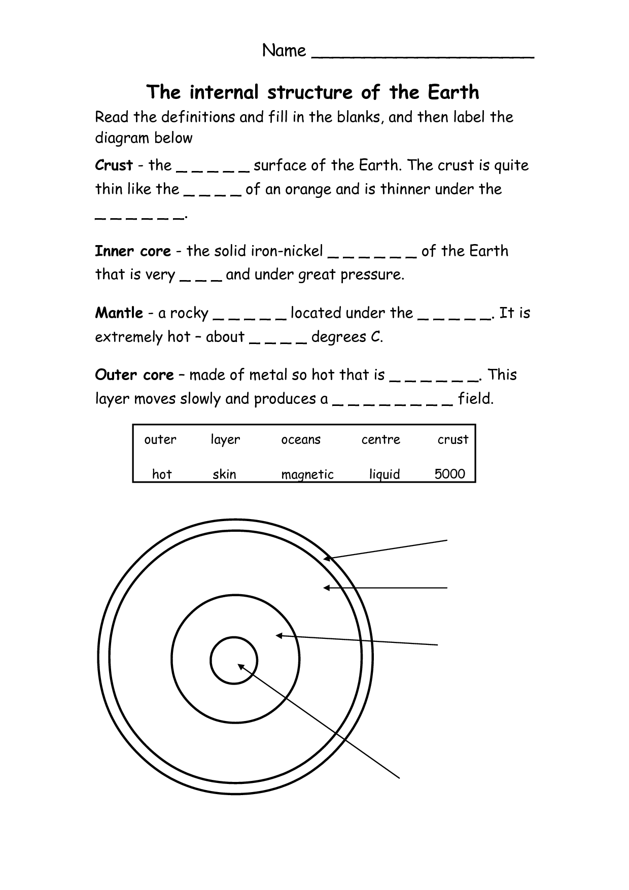 Montessori Earth Day Worksheet