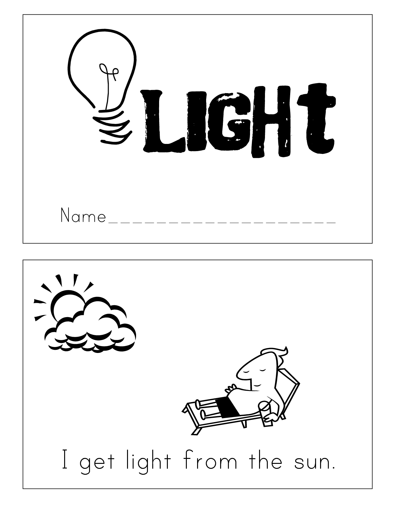 13 Best Images Of Sources Of Light Worksheet