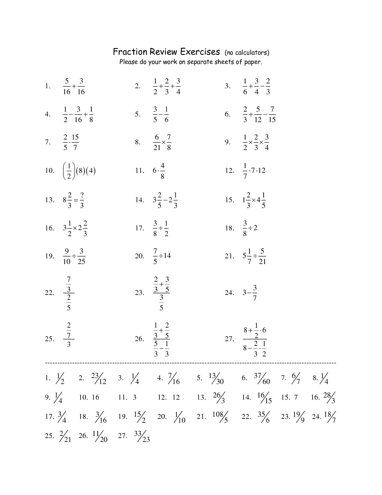 16 Best Images Of Fraction Addition Worksheets