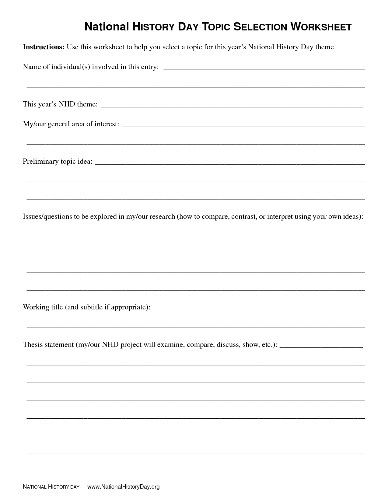 16 Best Images Of This Day In History Worksheet