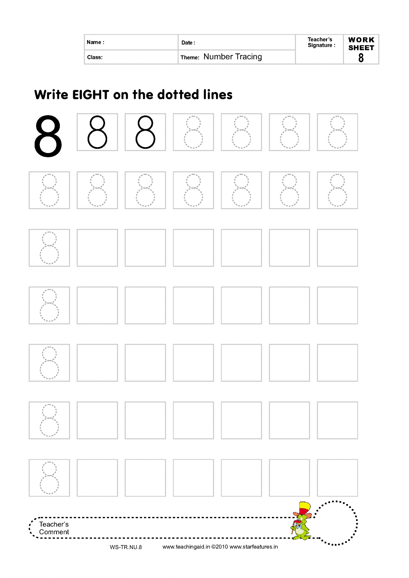11 Best Images Of Tracing Number Seven Worksheet