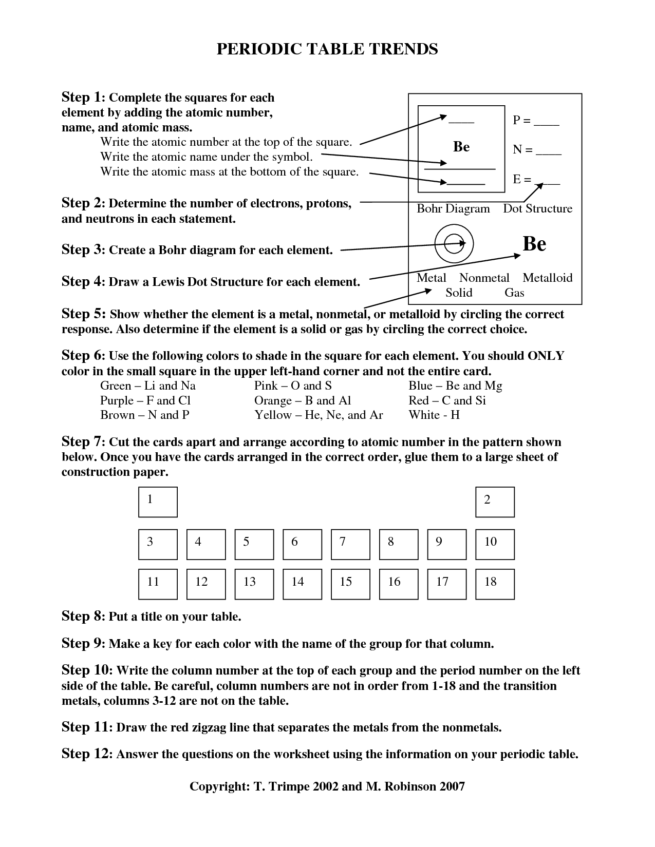 32 Chemistry Periodic Table Worksheet Answer Key