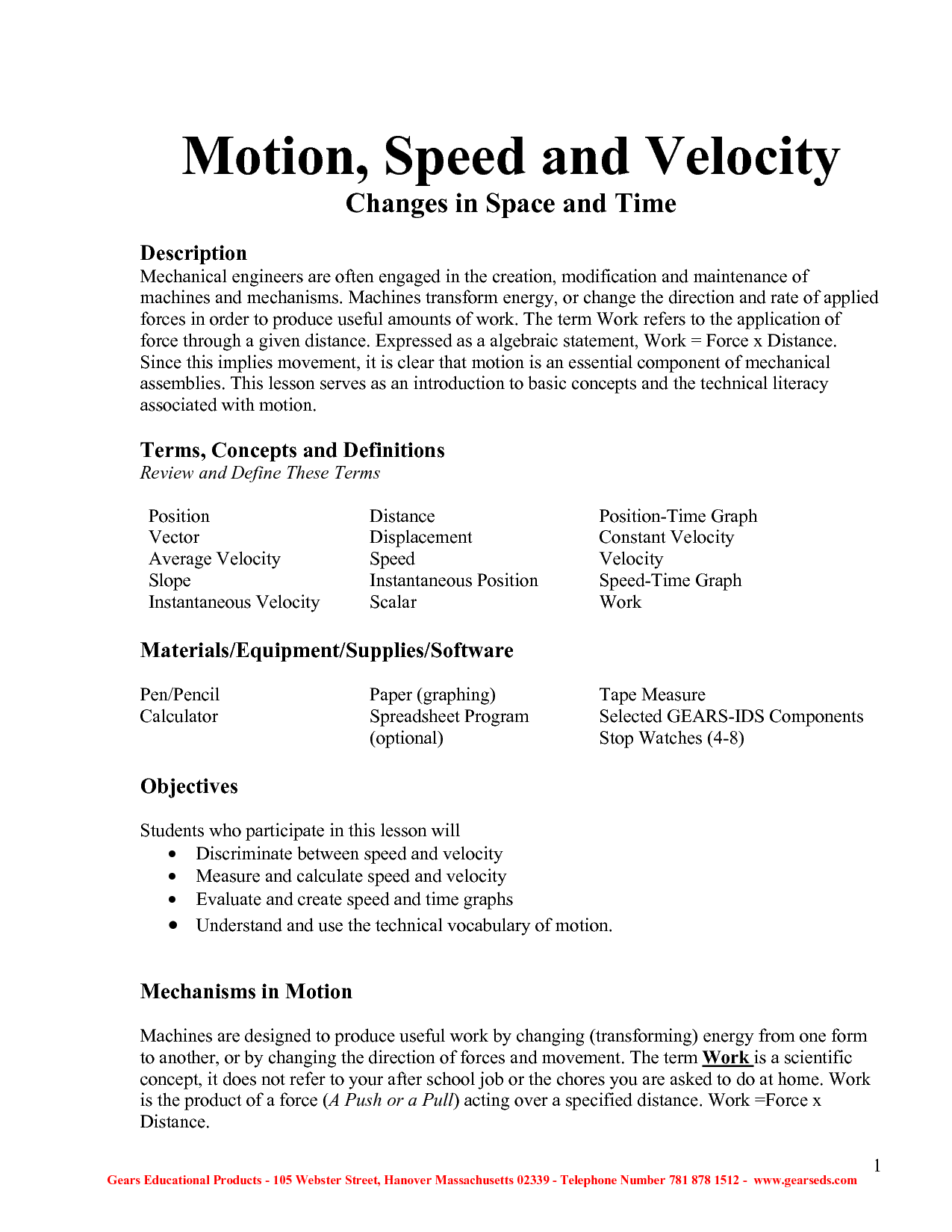Uniform Acceleration Worksheet