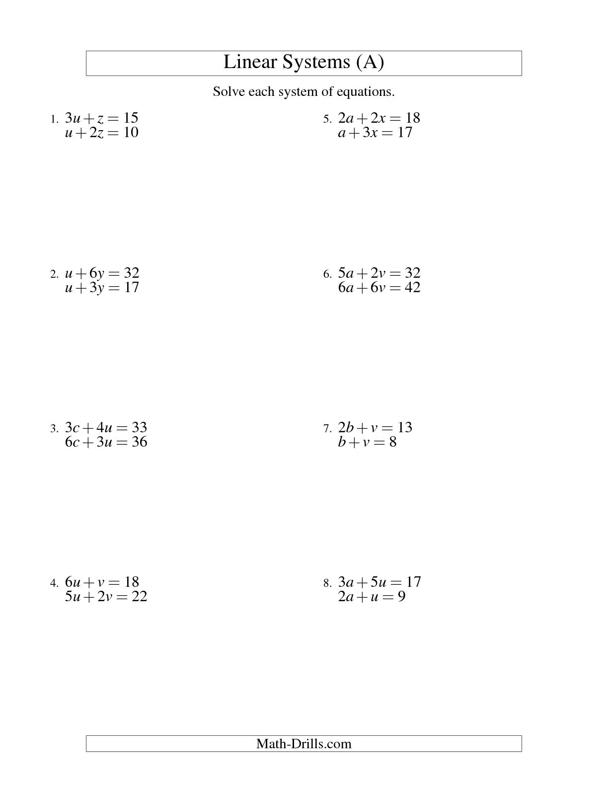 15 Best Images Of Solving Equations Practice Worksheet
