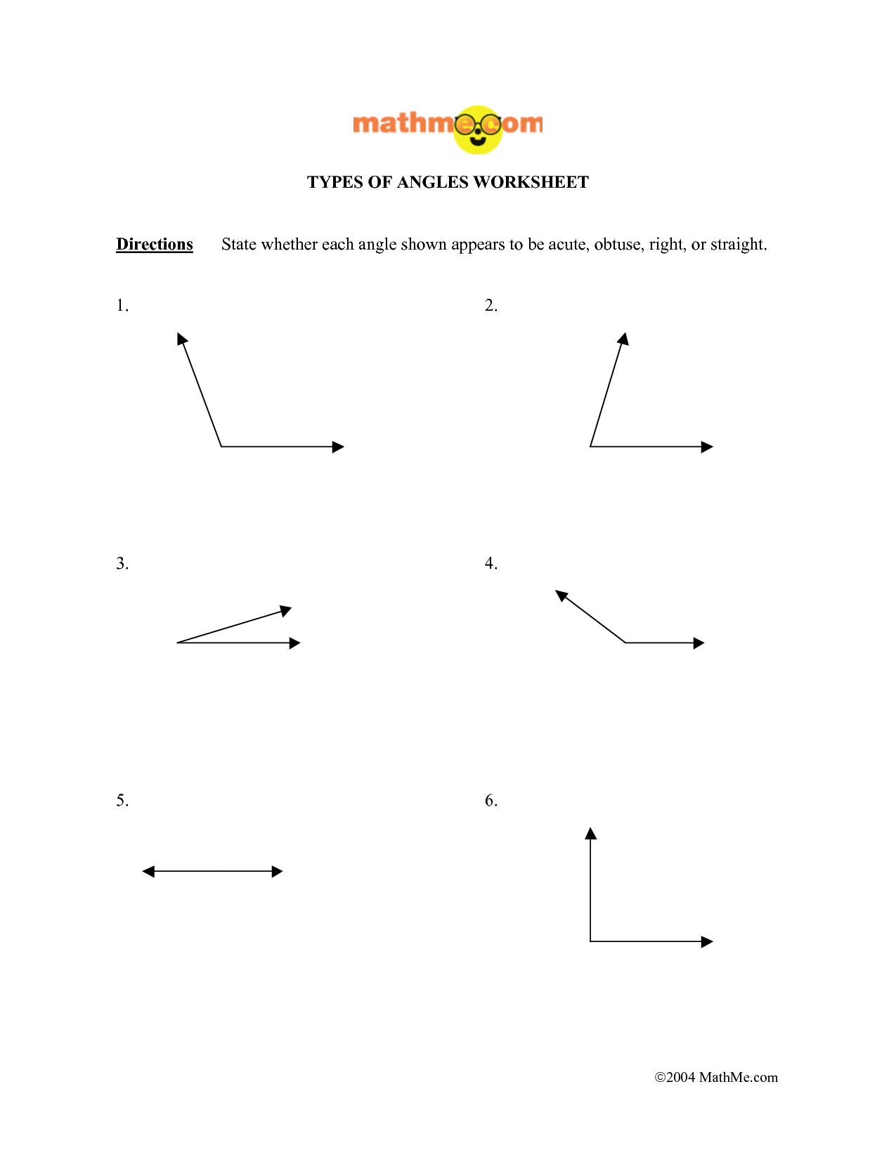9 Best Images Of Shapes And Angles Worksheets About Right