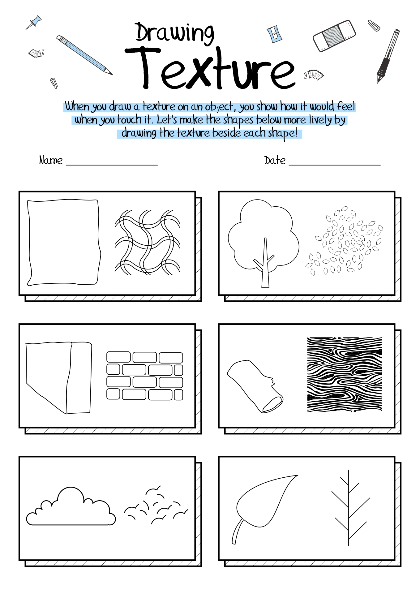 Pattern Art Worksheet