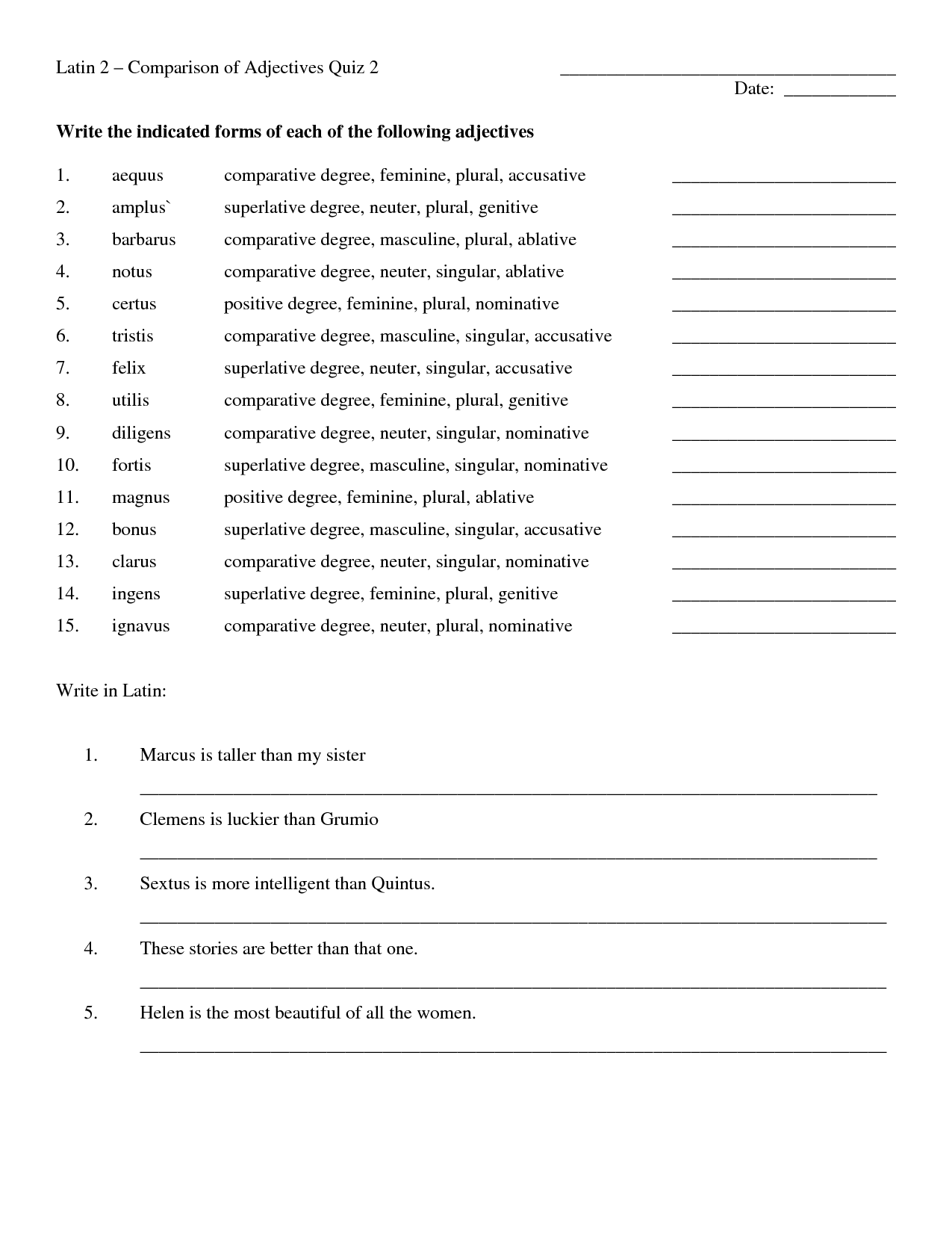 16 Best Images Of Russian Comparative Adjective Worksheets