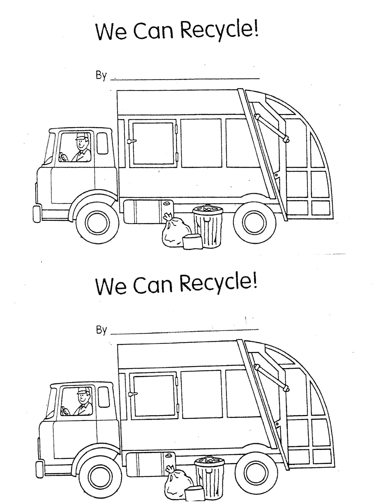 Recycle Worksheet Kindergarten