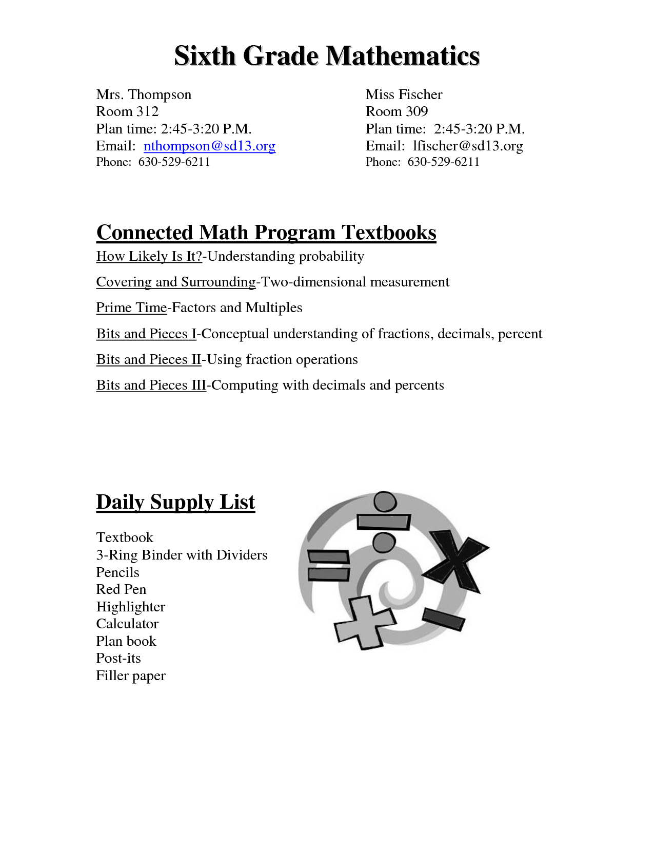 6 Best Images Of 6 Grade Math Worksheets Printable