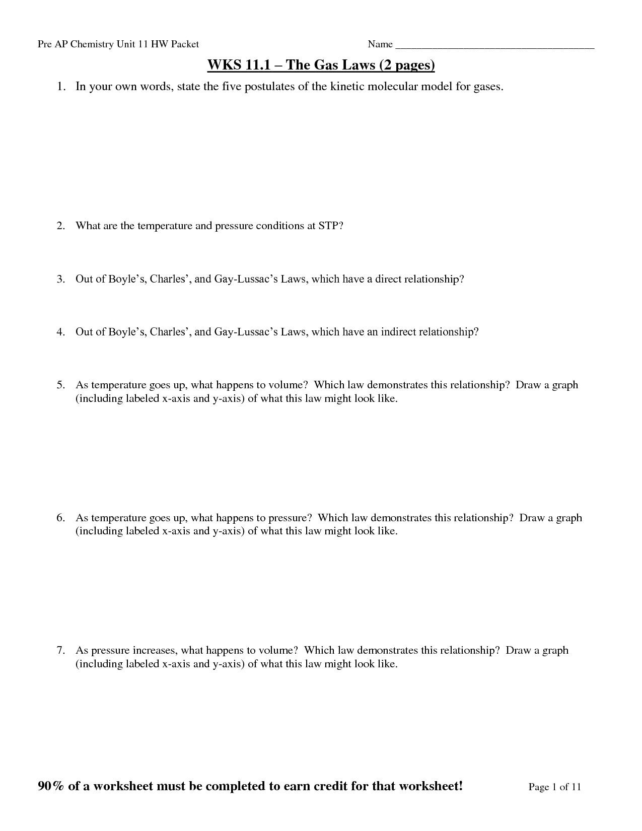 12 Best Images Of Boyle S Law Worksheet Answer Key