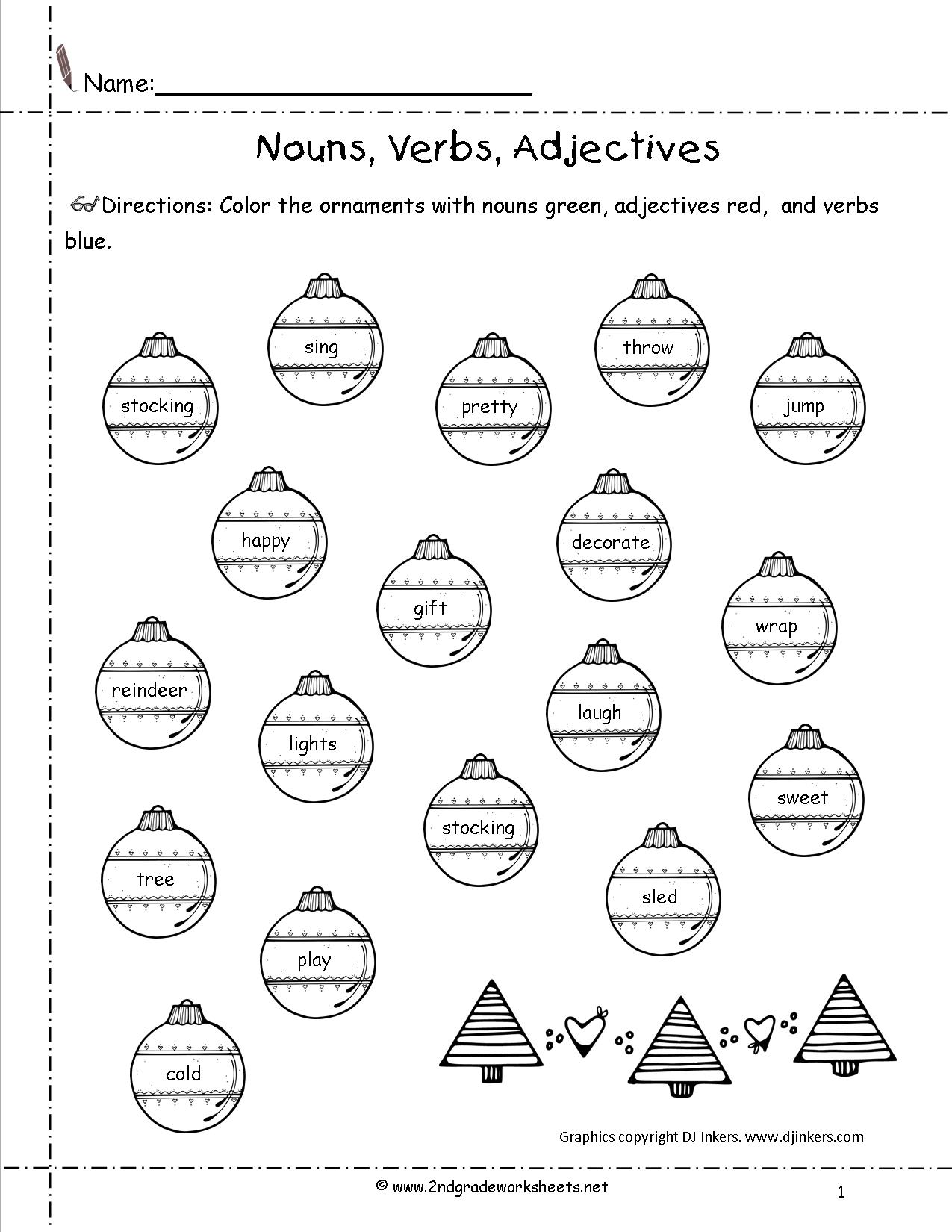 15 Best Images Of Noun Coloring Worksheets