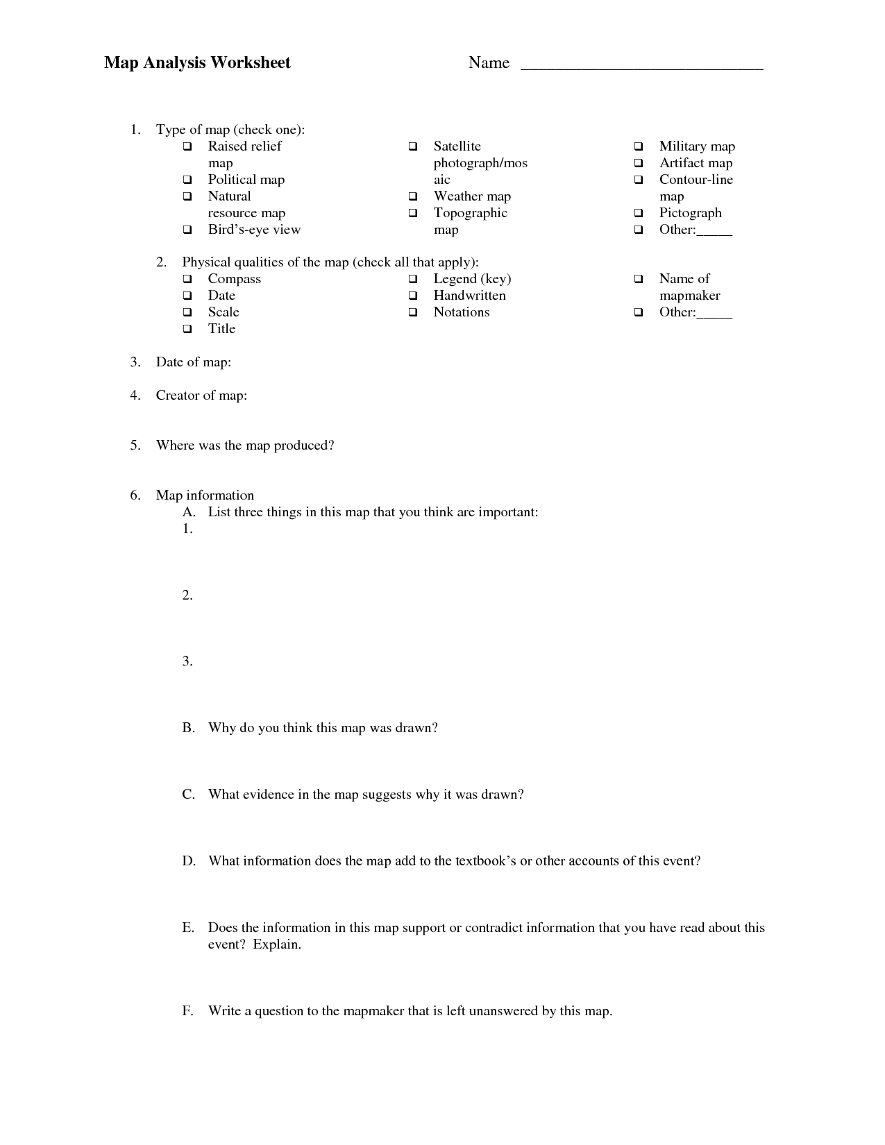 Map With Scale Worksheet