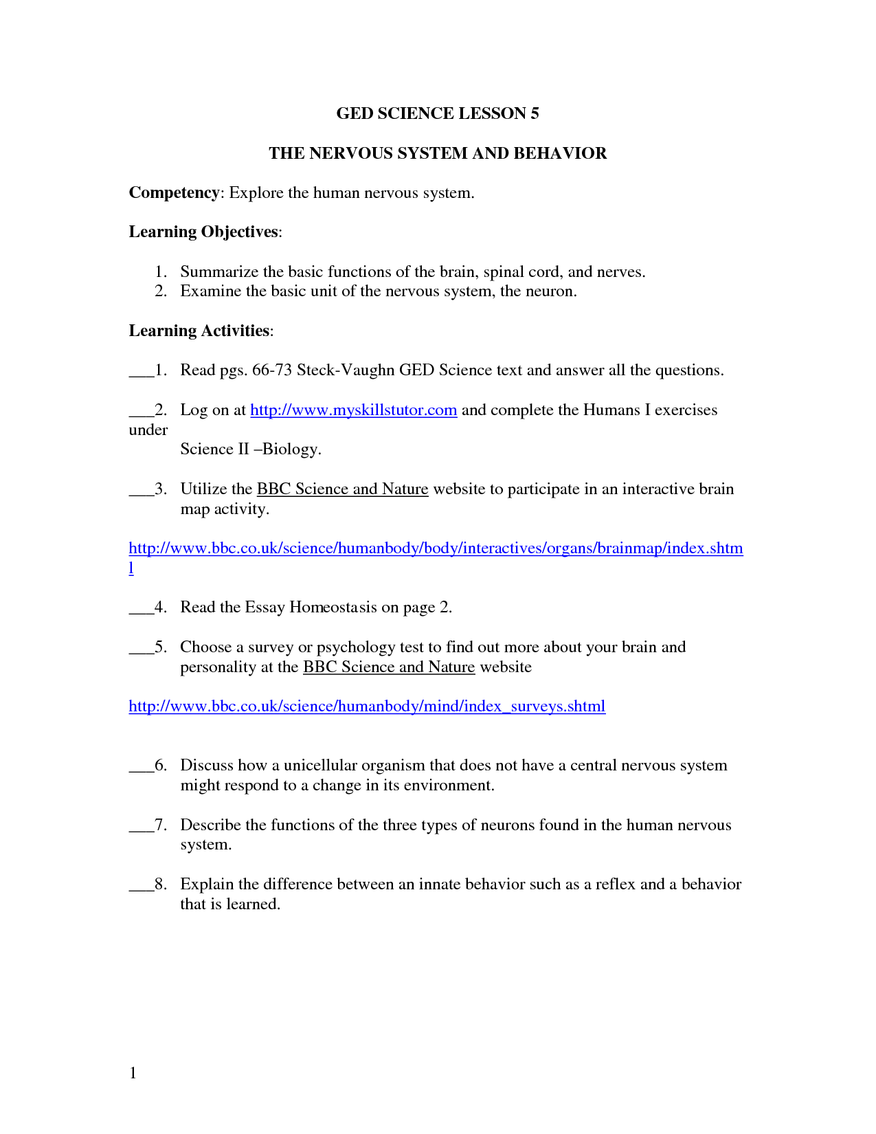 Worksheet Ged Science Worksheets Grass Fedjp Worksheet Study Site
