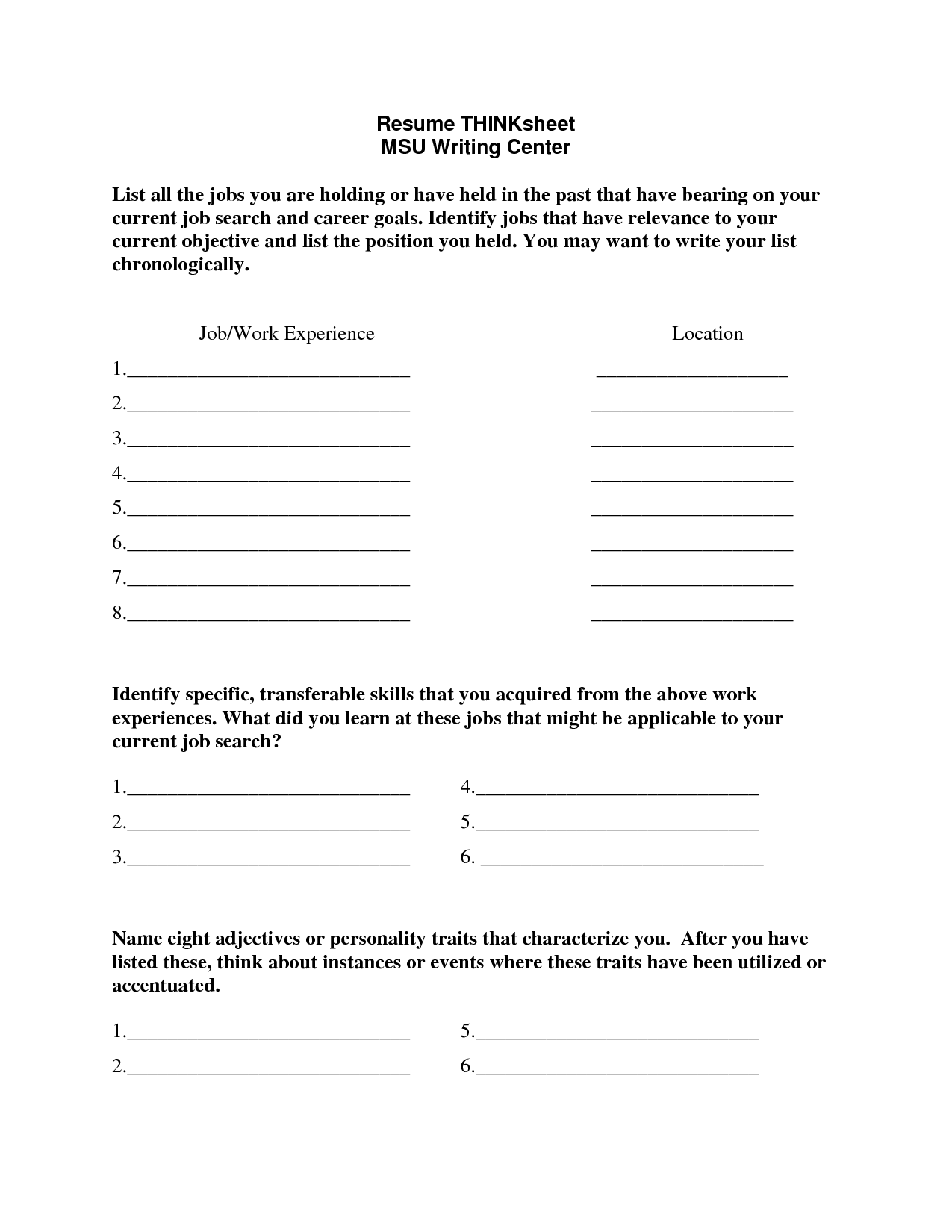 17 Best Images Of Students Career Goals Worksheet
