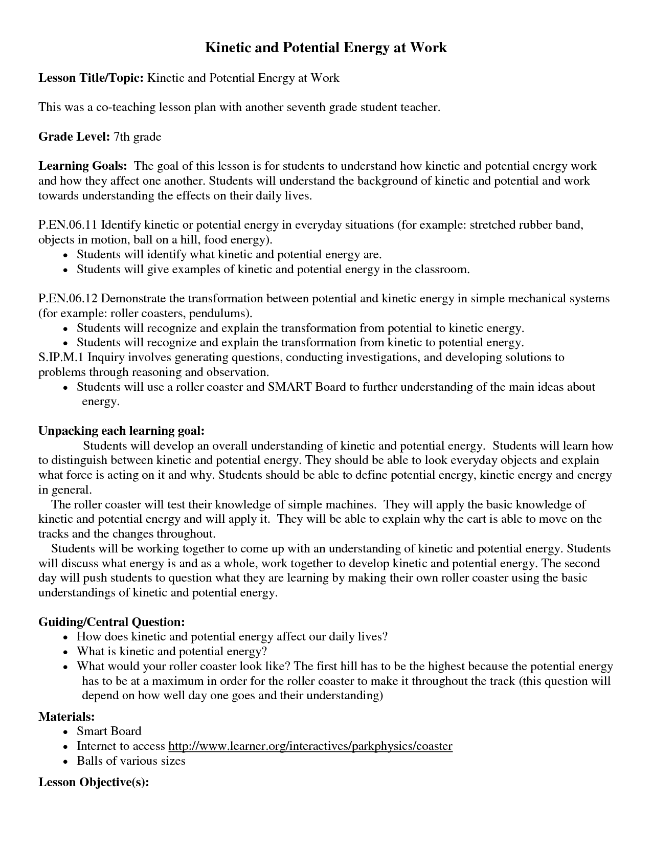 Worksheet Kiic And Potential Energy Worksheet