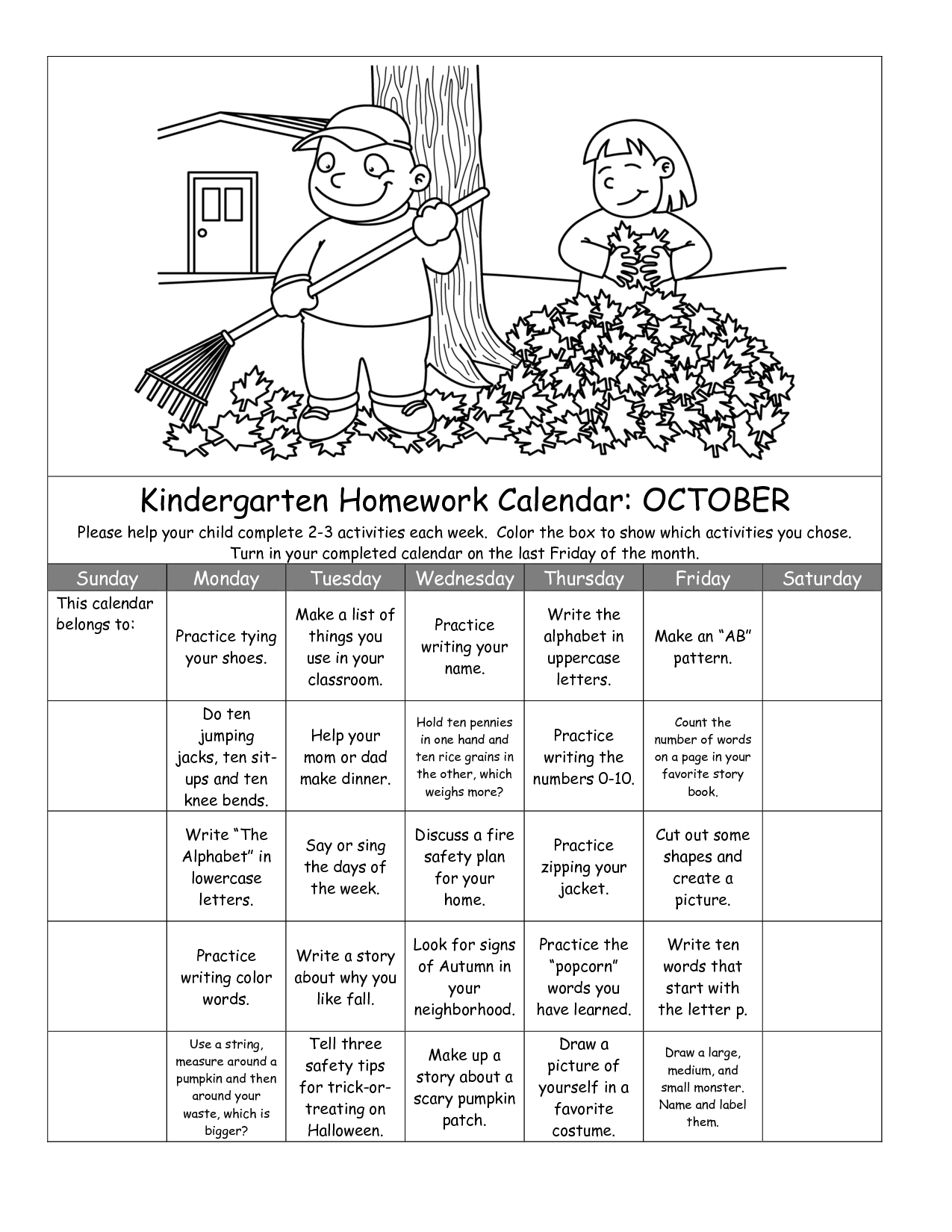 17 Best Images Of Calendar Worksheets For Kindergarten