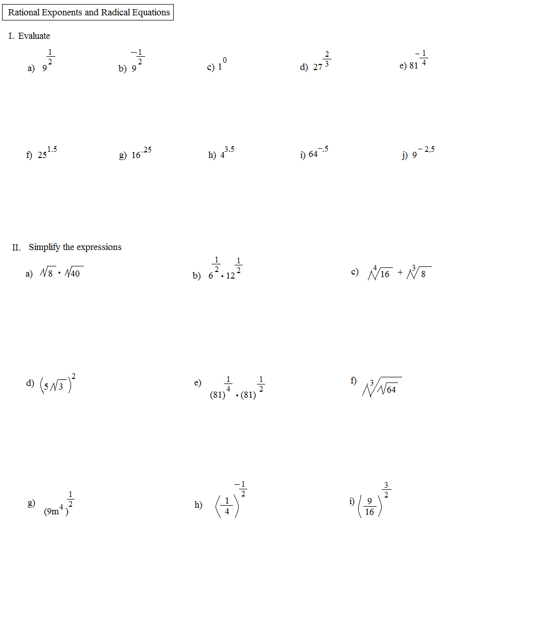 14 Best Images Of Rational Equations Worksheet With Answers