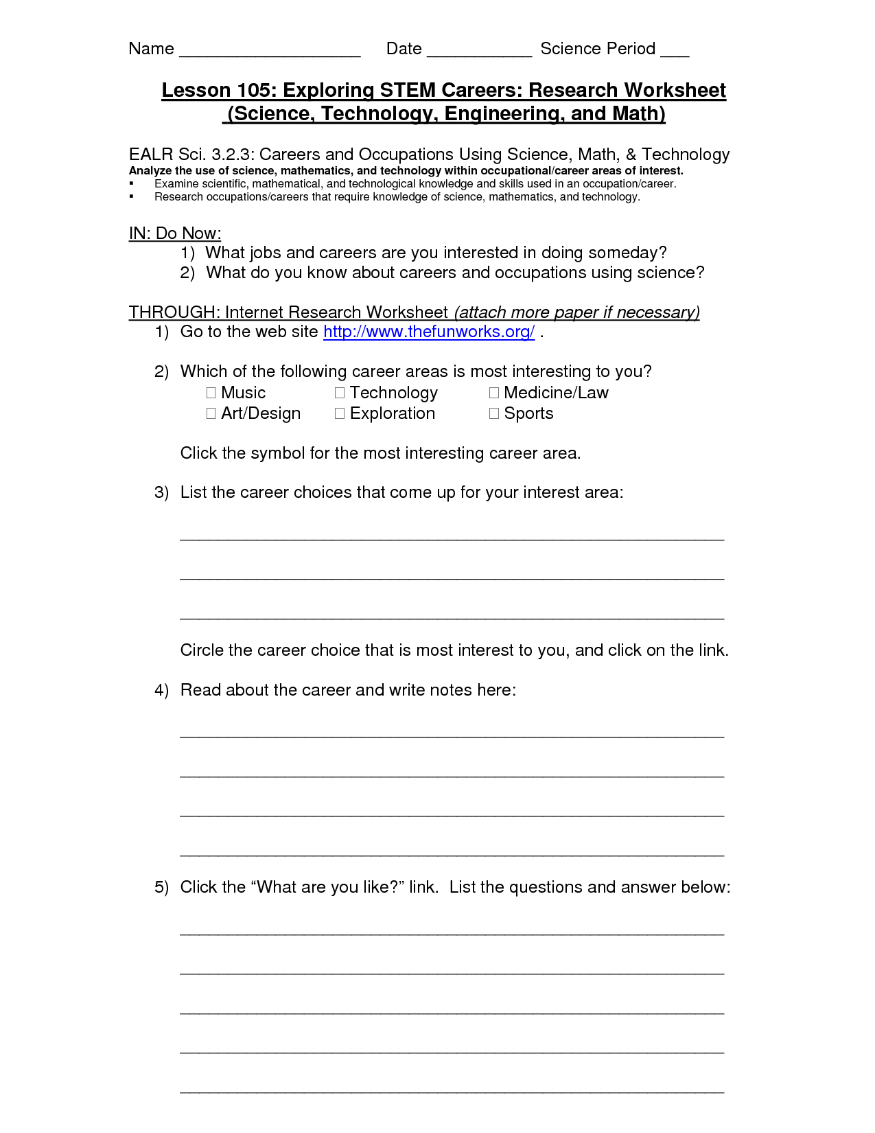 30 Research Worksheet Middle School