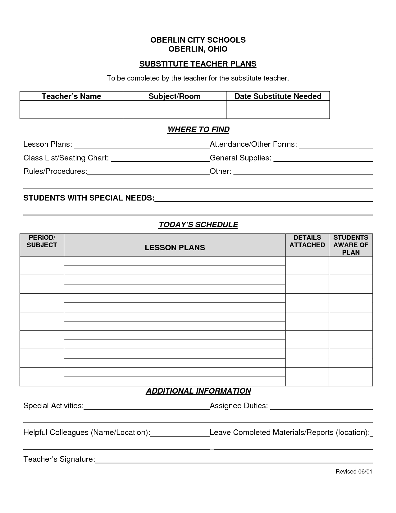 14 Best Images Of Substitute Teacher Worksheets For