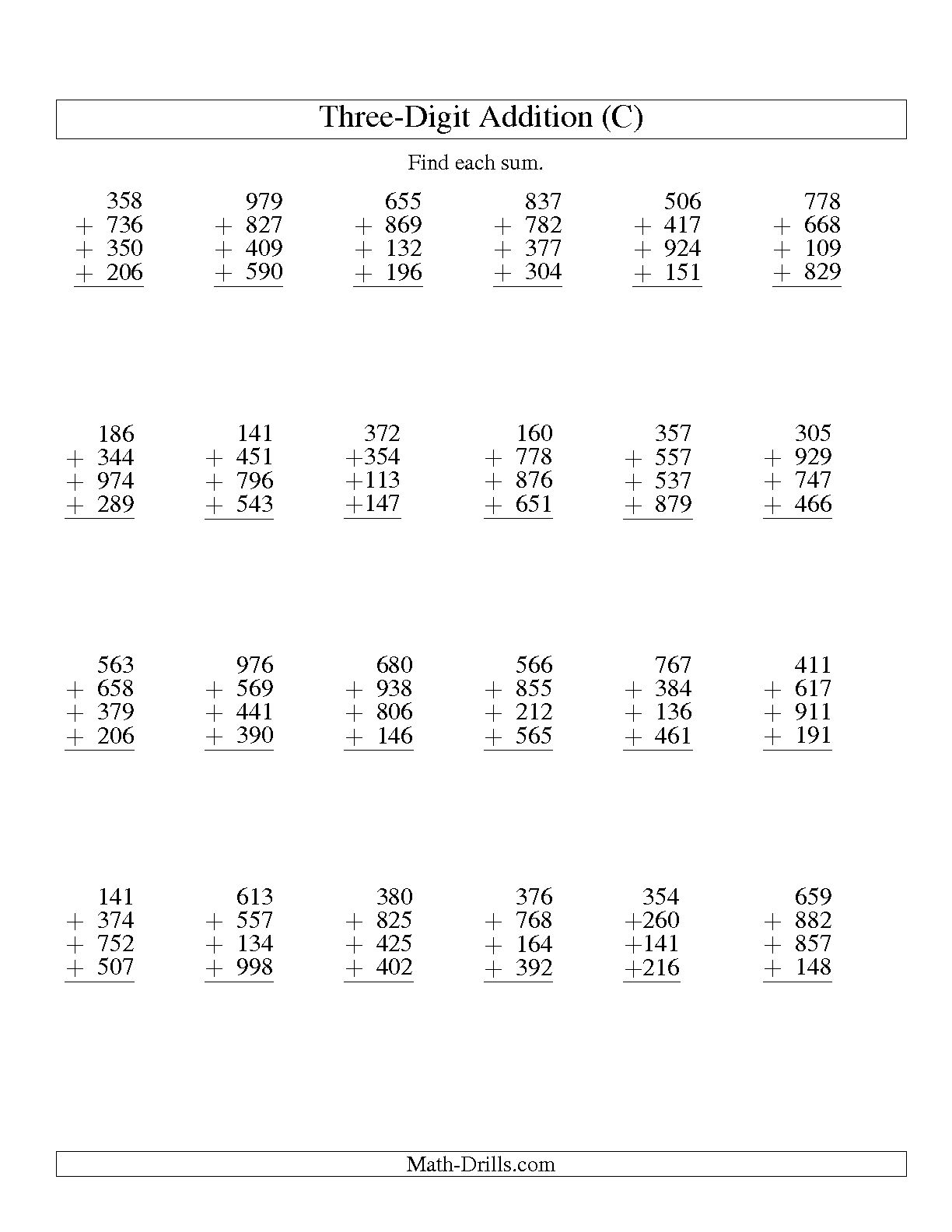 13 Best Images Of 12 Column Worksheet