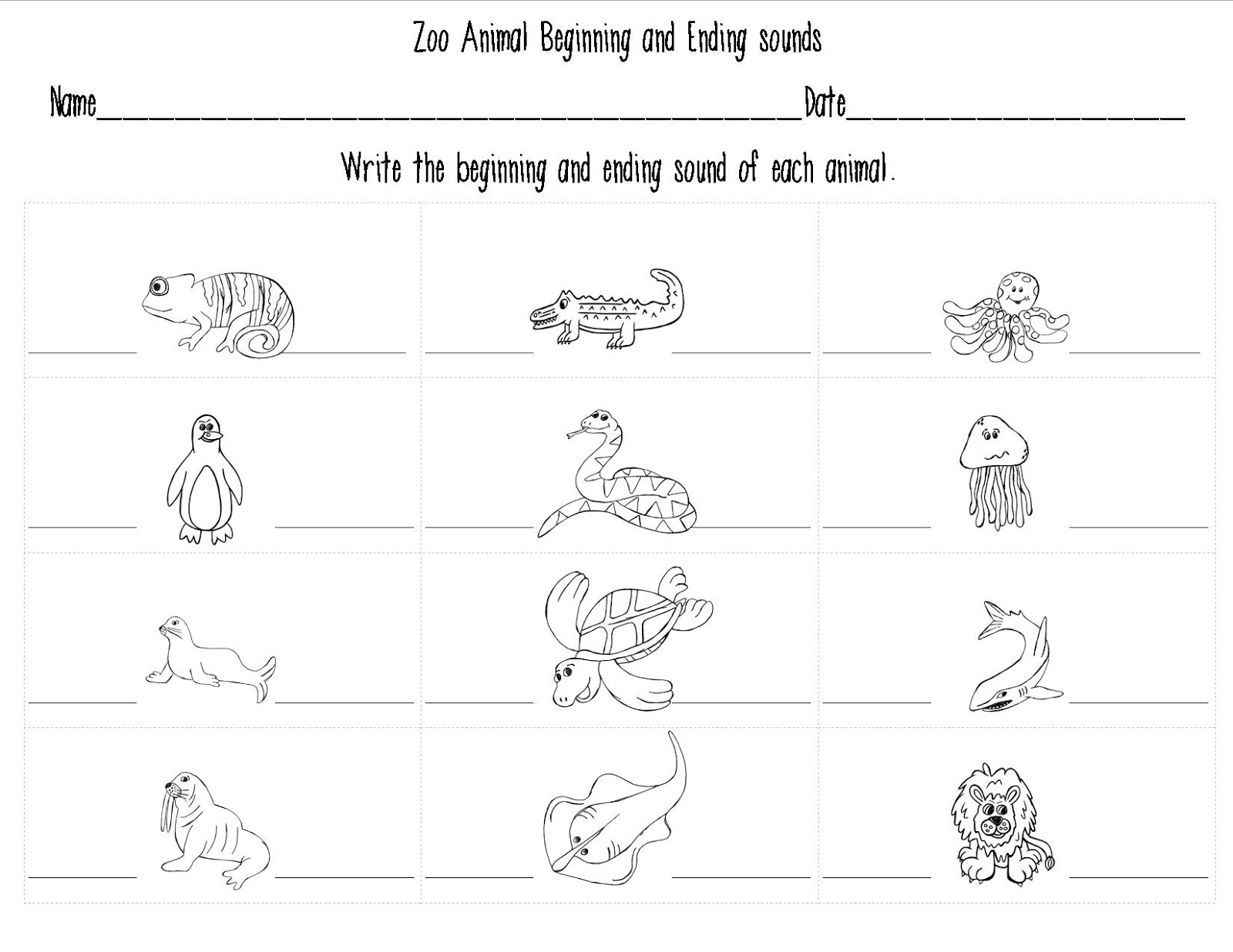 14 Best Images Of Zoo Animal Worksheets Addition