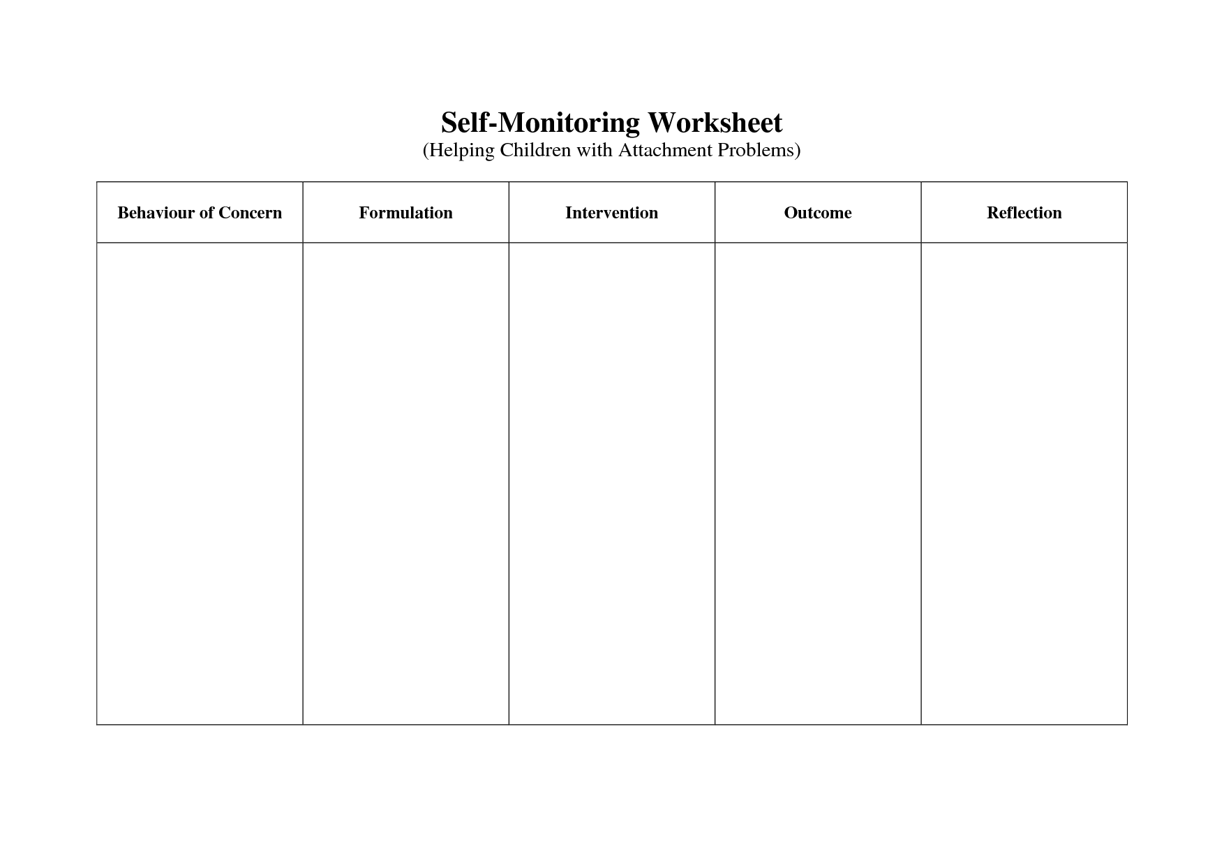 14 Best Images Of Cbt Handouts And Worksheets