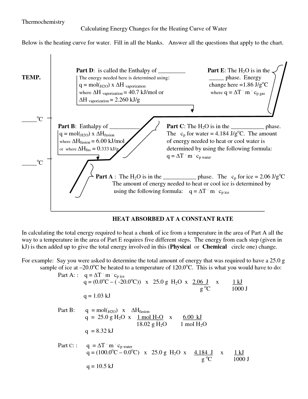 Kinetic Energy Equations Worksheet