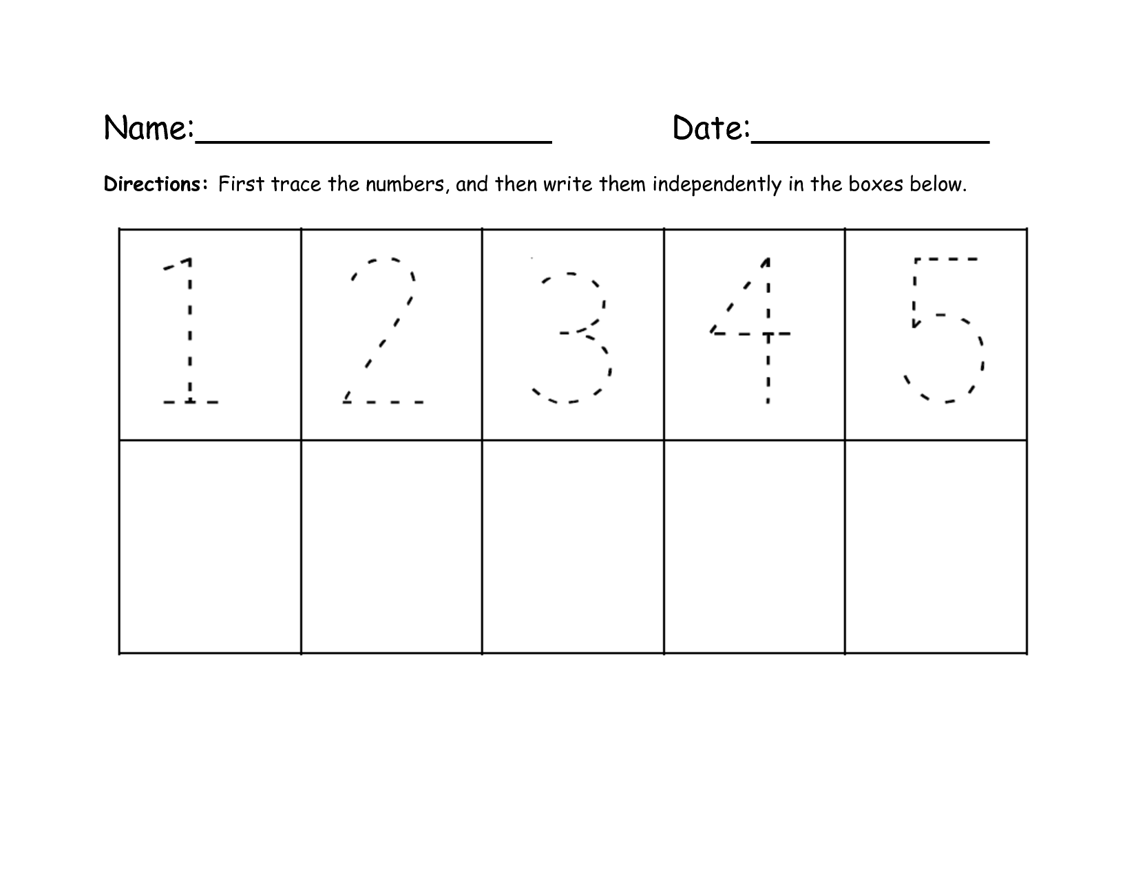 15 Best Images Of Writing Number 5 Tracing Worksheet