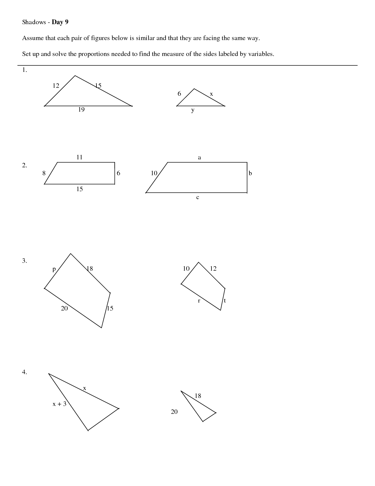 Shape Worksheet Category Page 11