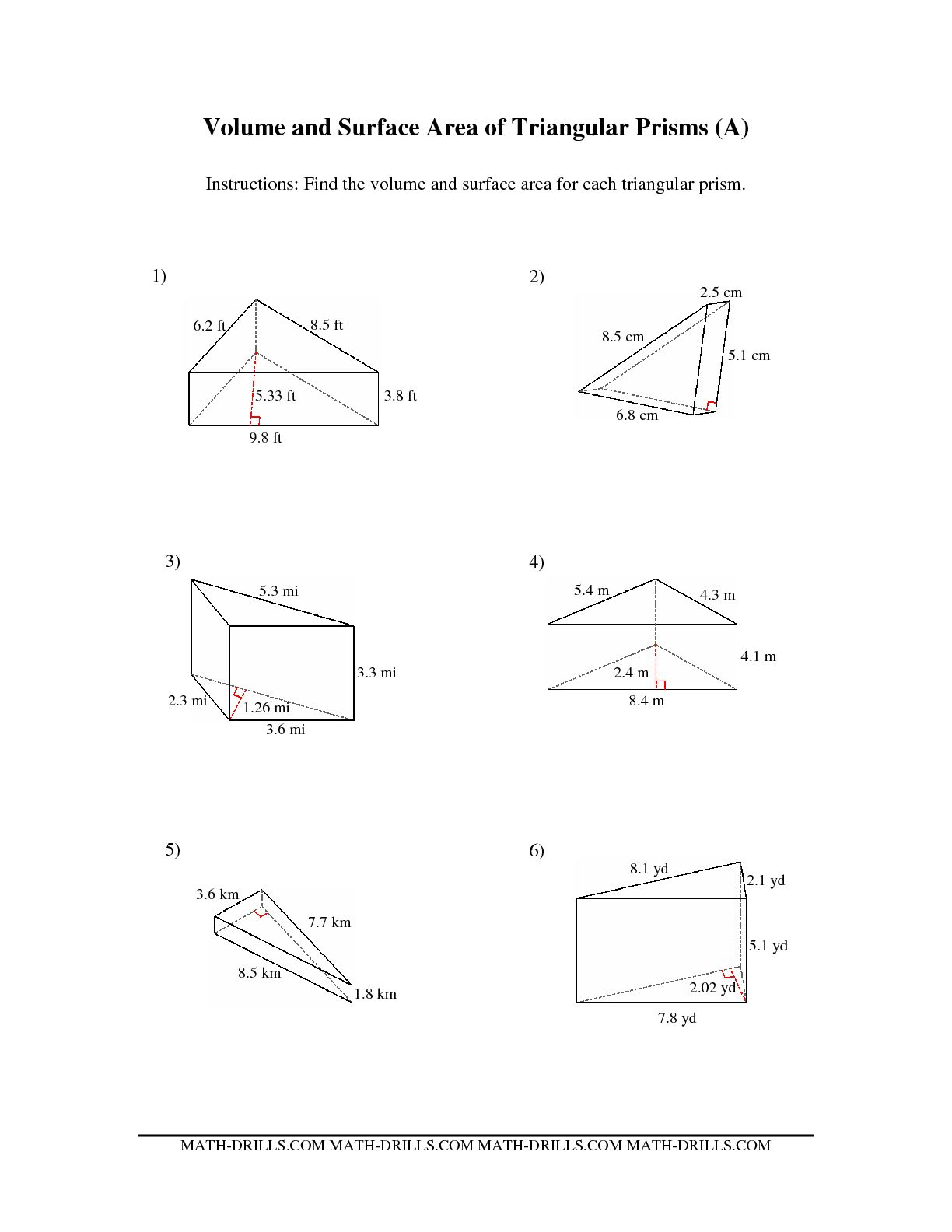 10 Best Images Of Surface Area Rectangular Prism Worksheet