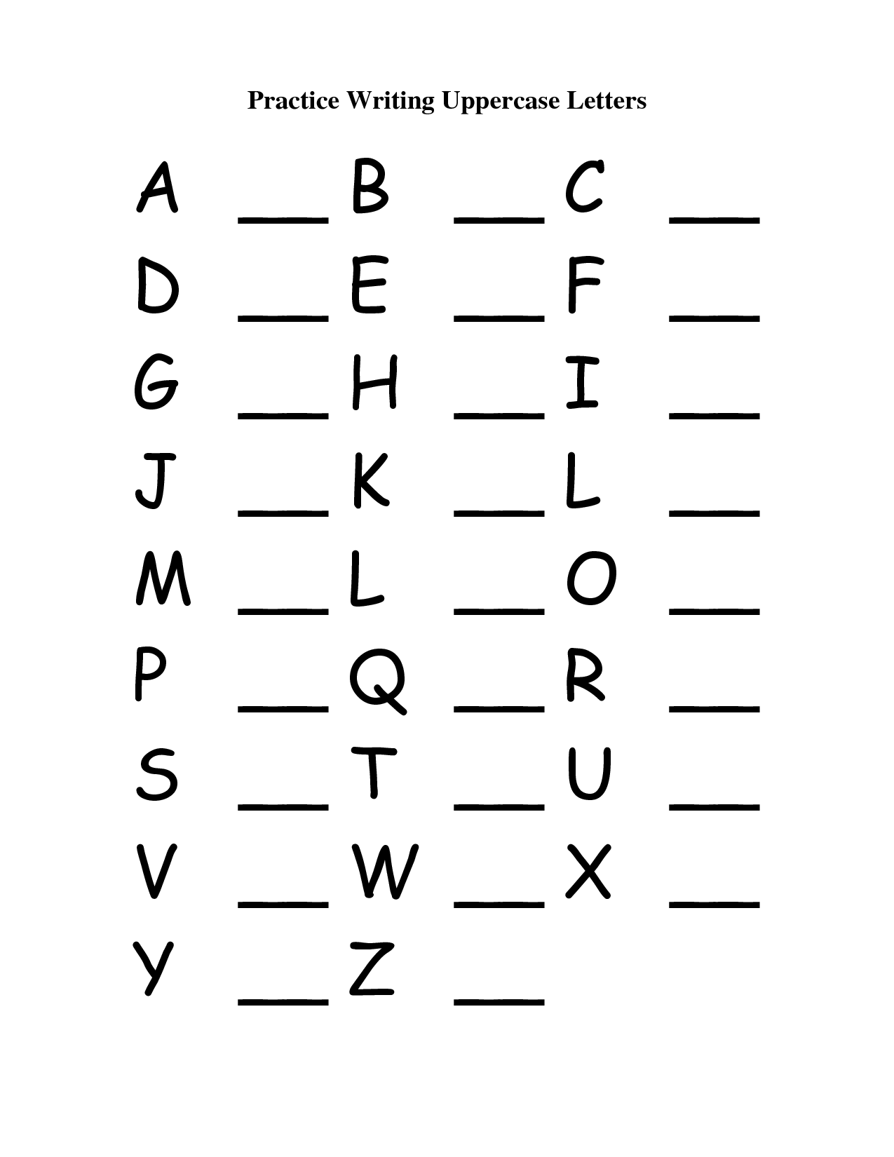 10 Best Images Of Matching Capital Letters Worksheets