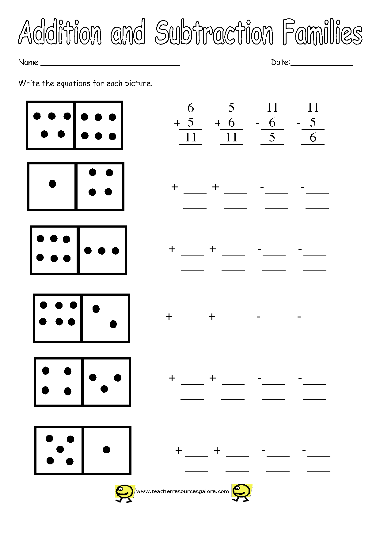 14 Best Images Of Digit Single Subtraction Math Worksheets