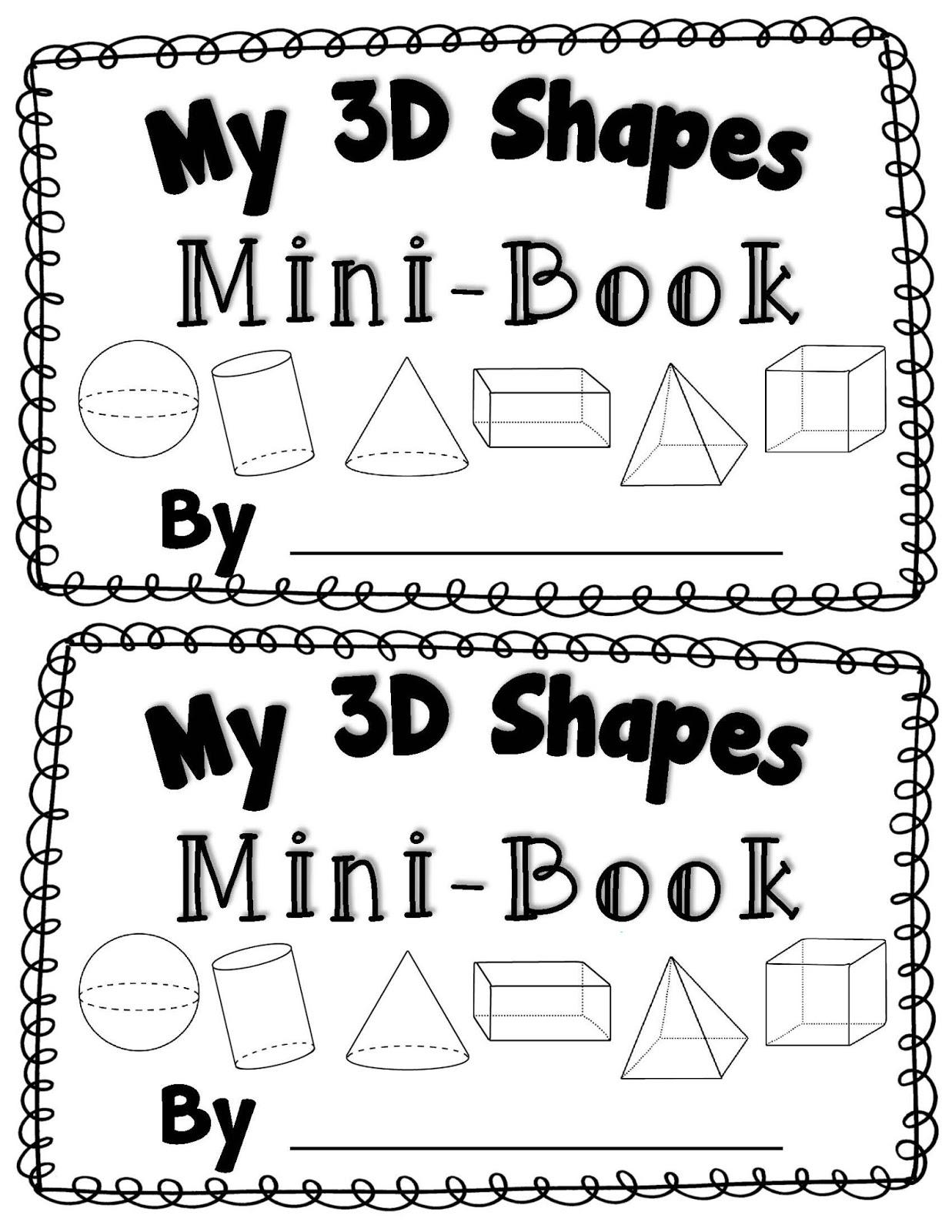 Kindergarten Printable 3d Shapes