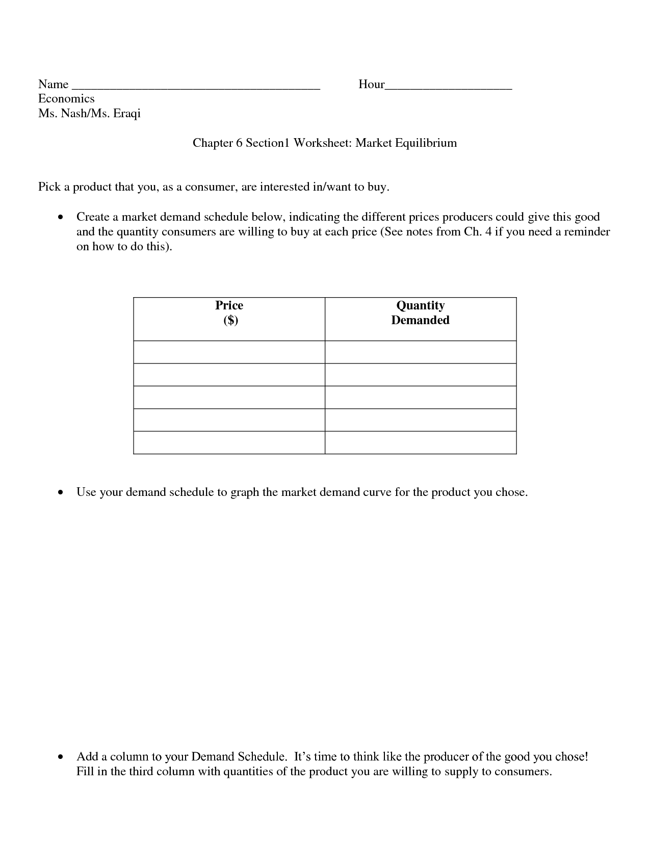 13 Best Images Of Economics Activity Worksheets