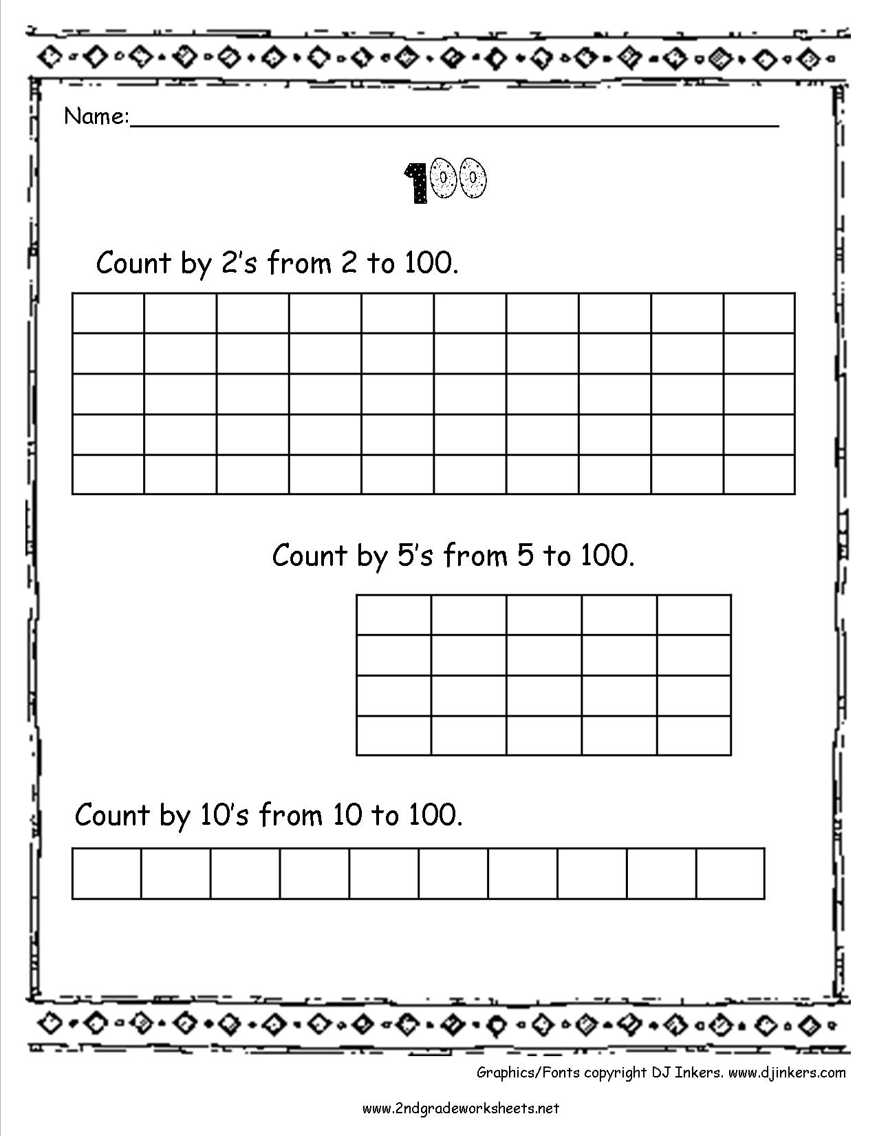13 Best Images Of Counting By 10 100 Worksheets